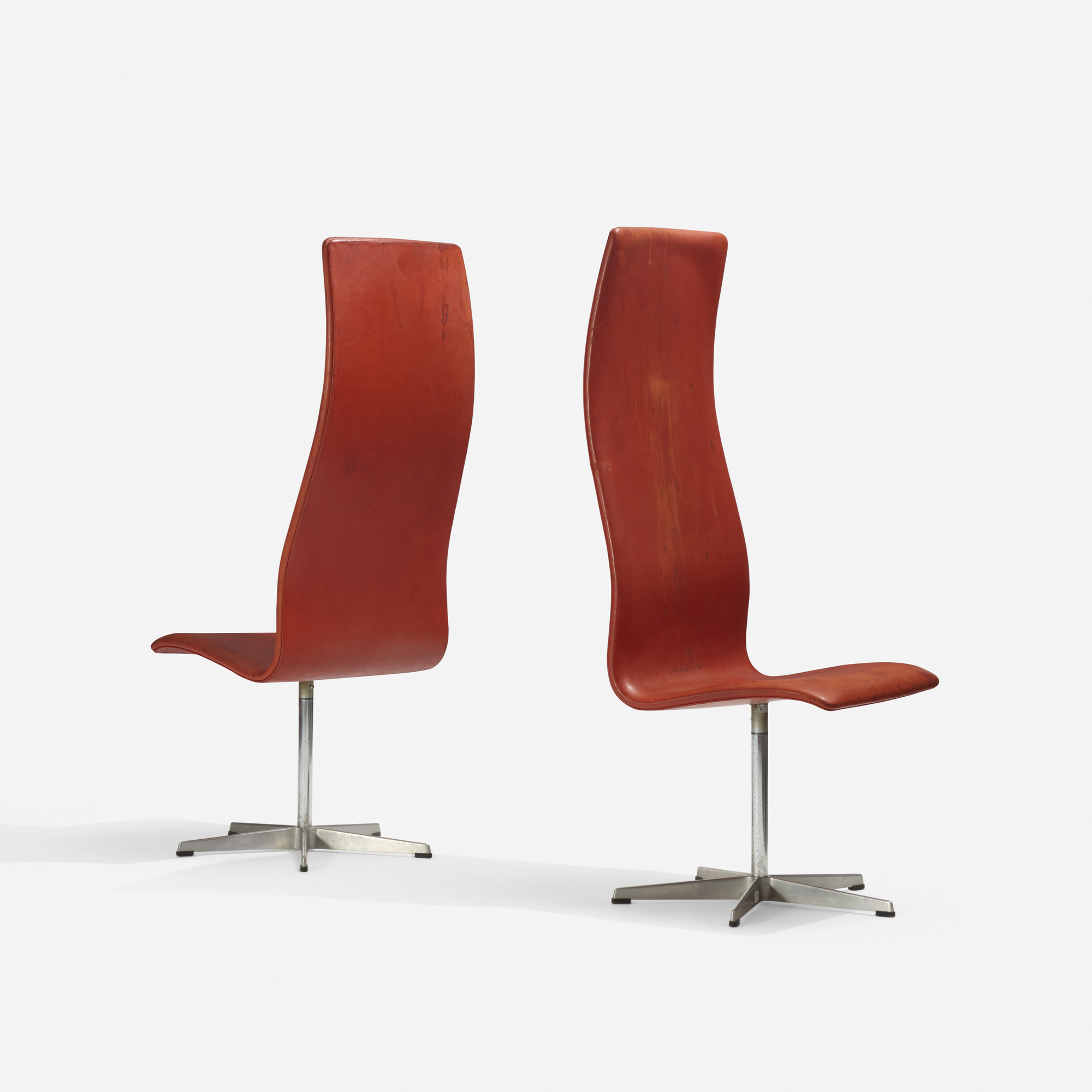 111: Arne Jacobsen / Oxford chairs model 7403, pair (1 of 3)