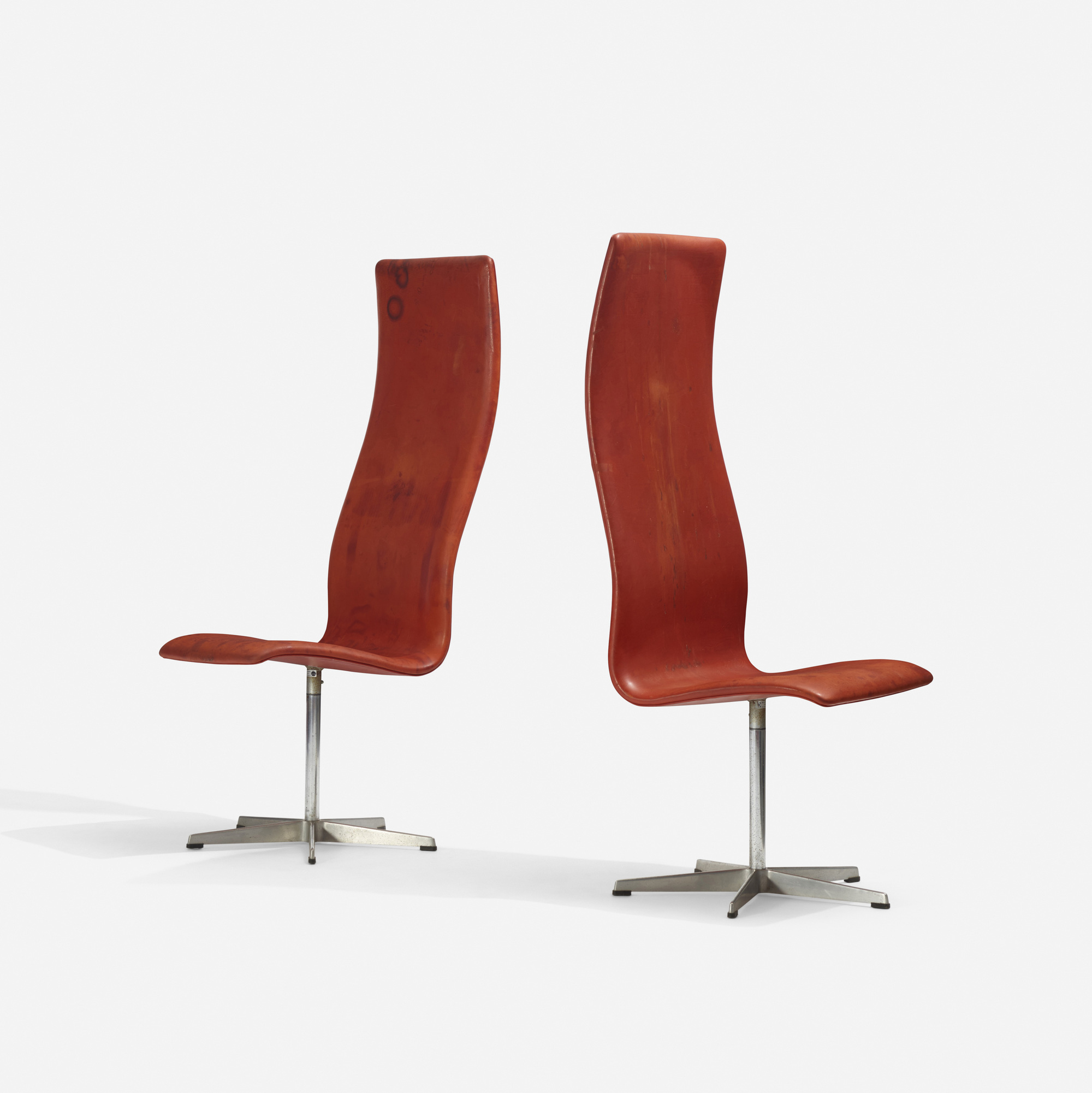 111: Arne Jacobsen / Oxford chairs model 7403, pair (2 of 3)