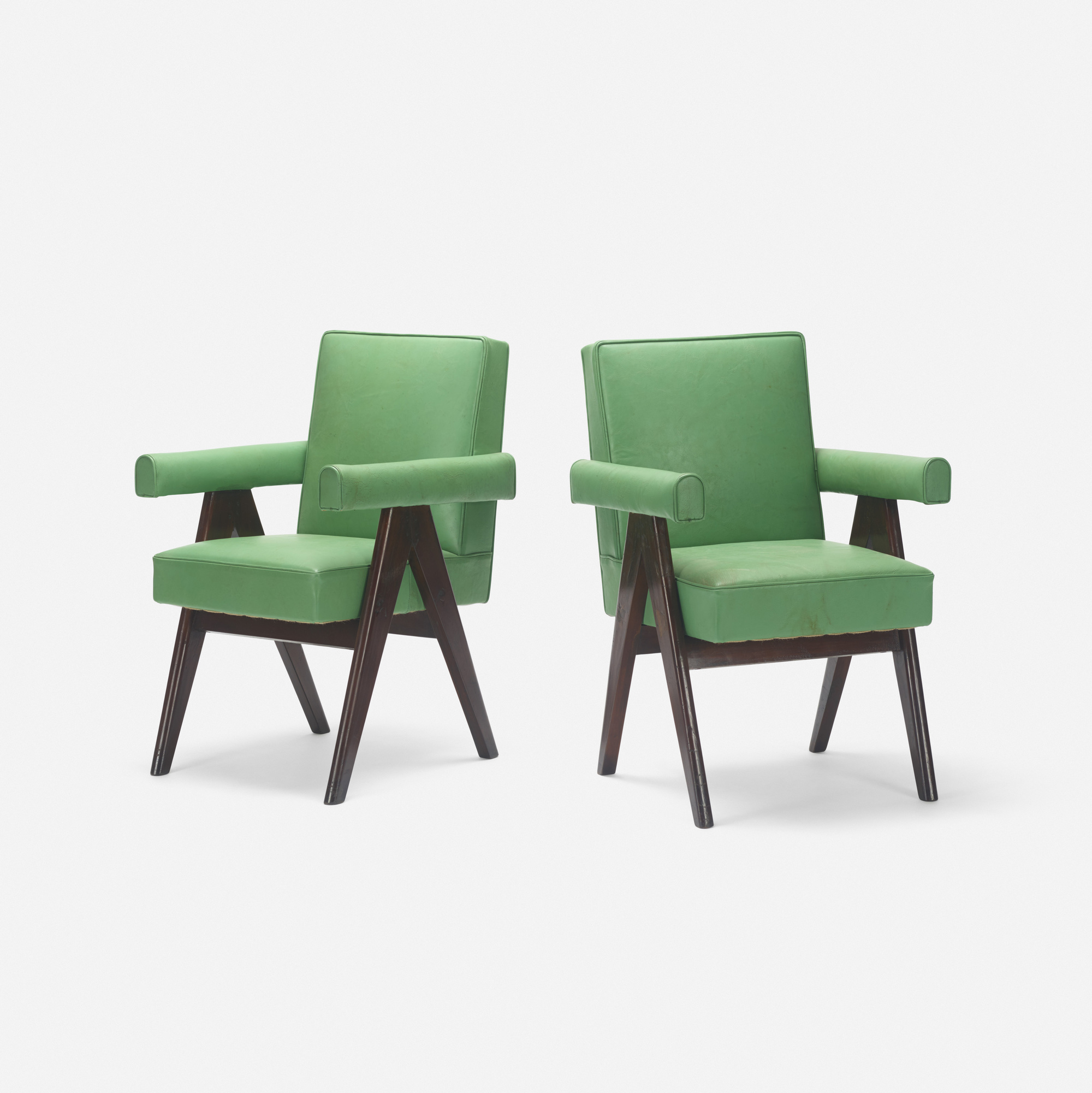 112: Pierre Jeanneret / pair of Committee armchairs from the High Court, Chandigarh (1 of 2)