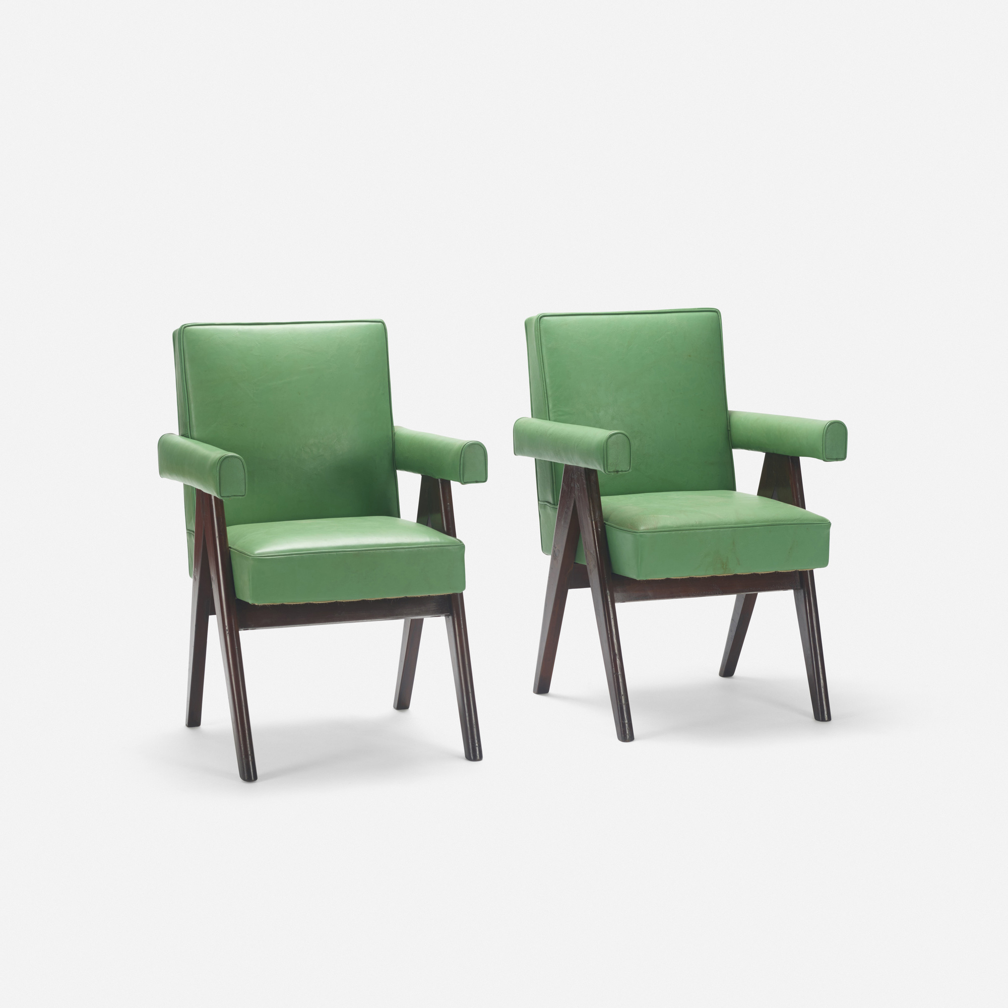 112: Pierre Jeanneret / pair of Committee armchairs from the High Court, Chandigarh (2 of 2)