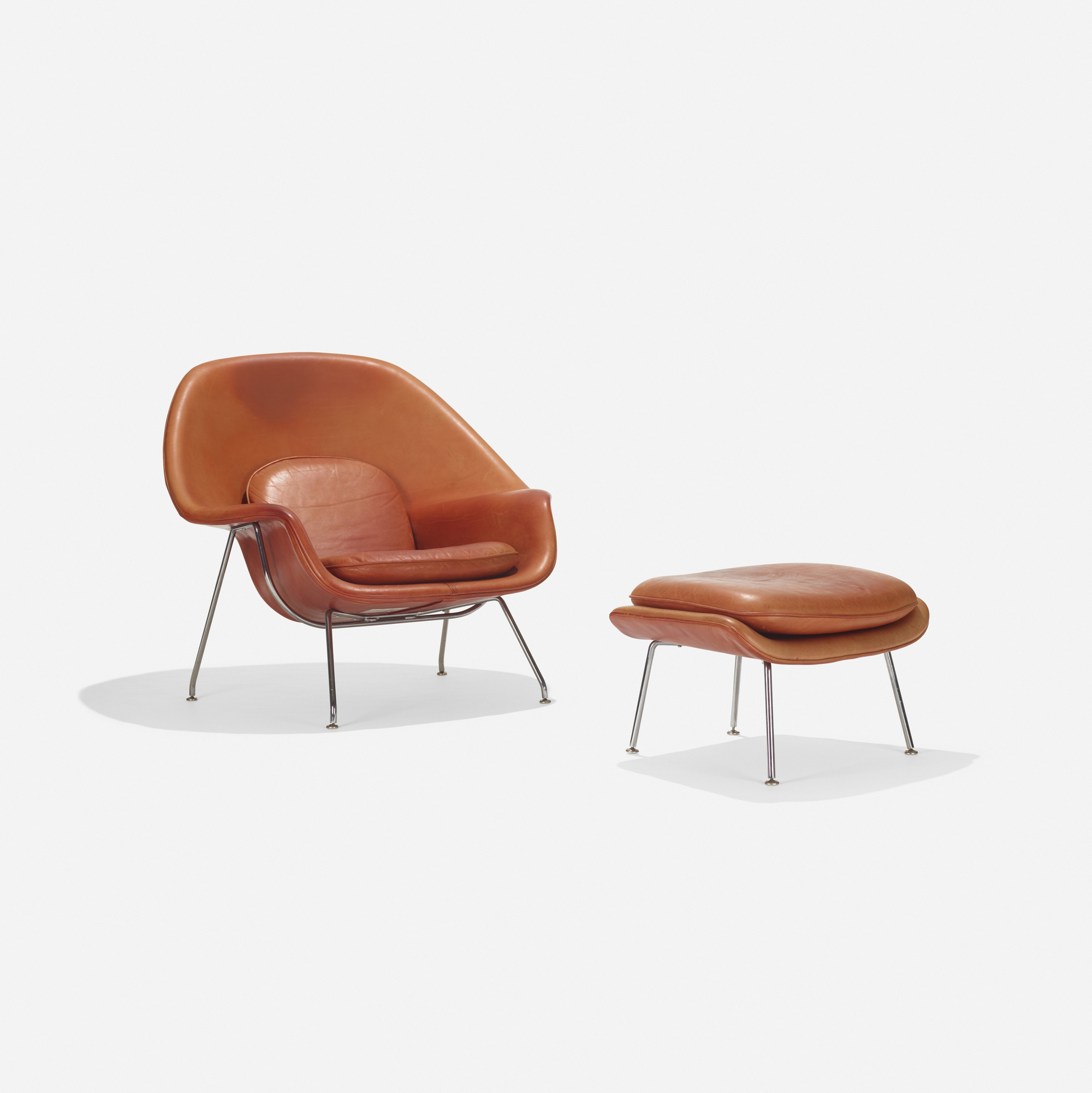 113 eero saarinen rare womb chair and ottoman 1 of 2