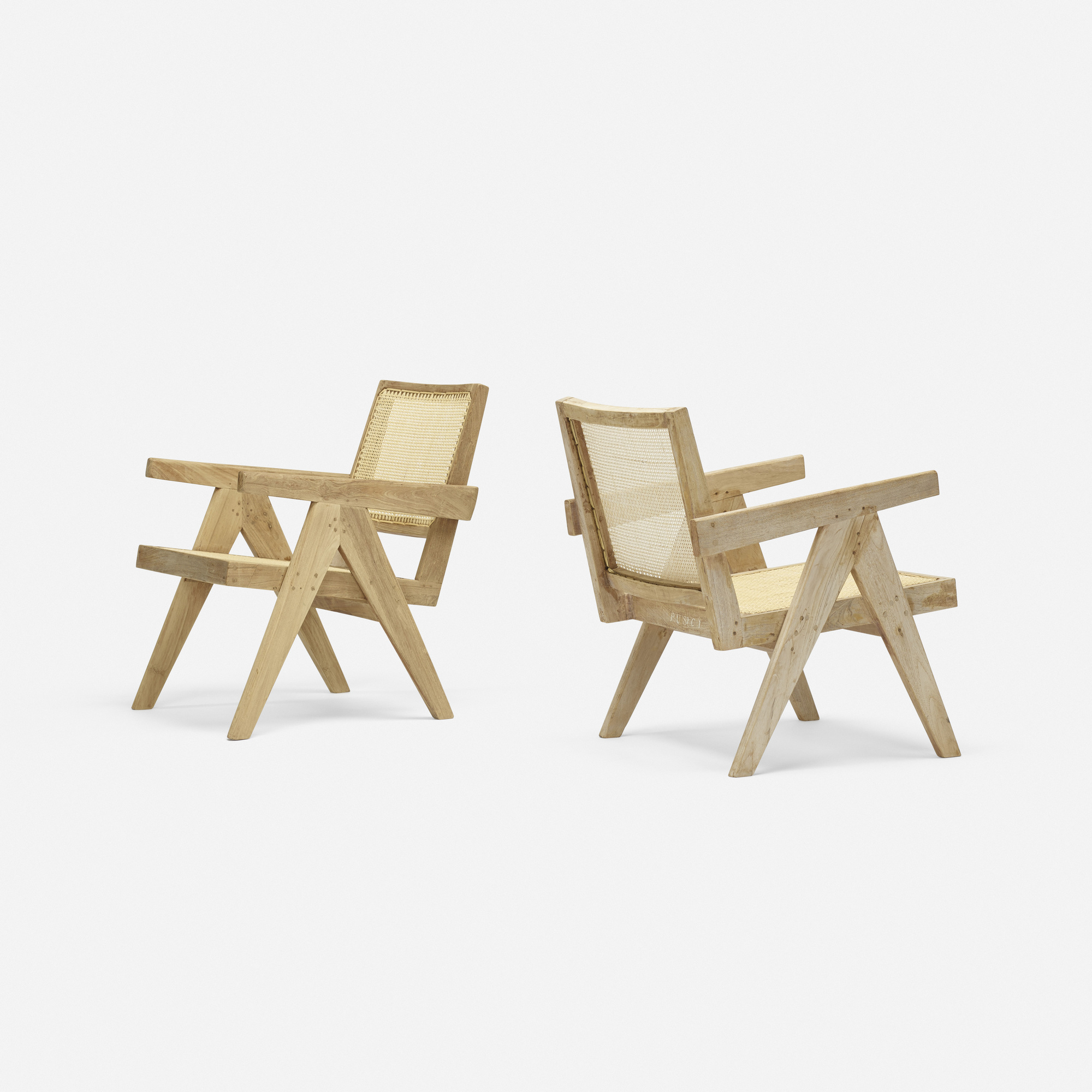 113: Pierre Jeanneret / Easy armchairs from Chandigarh, set of two (1 of 4)