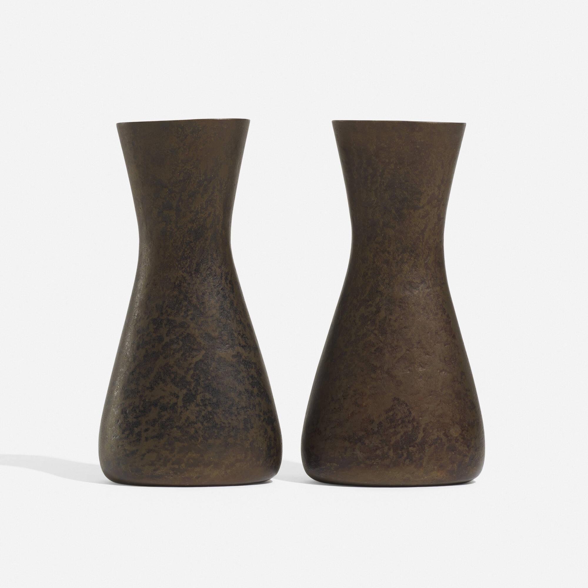 113: Carl Auböck II / vases, pair (1 of 2)