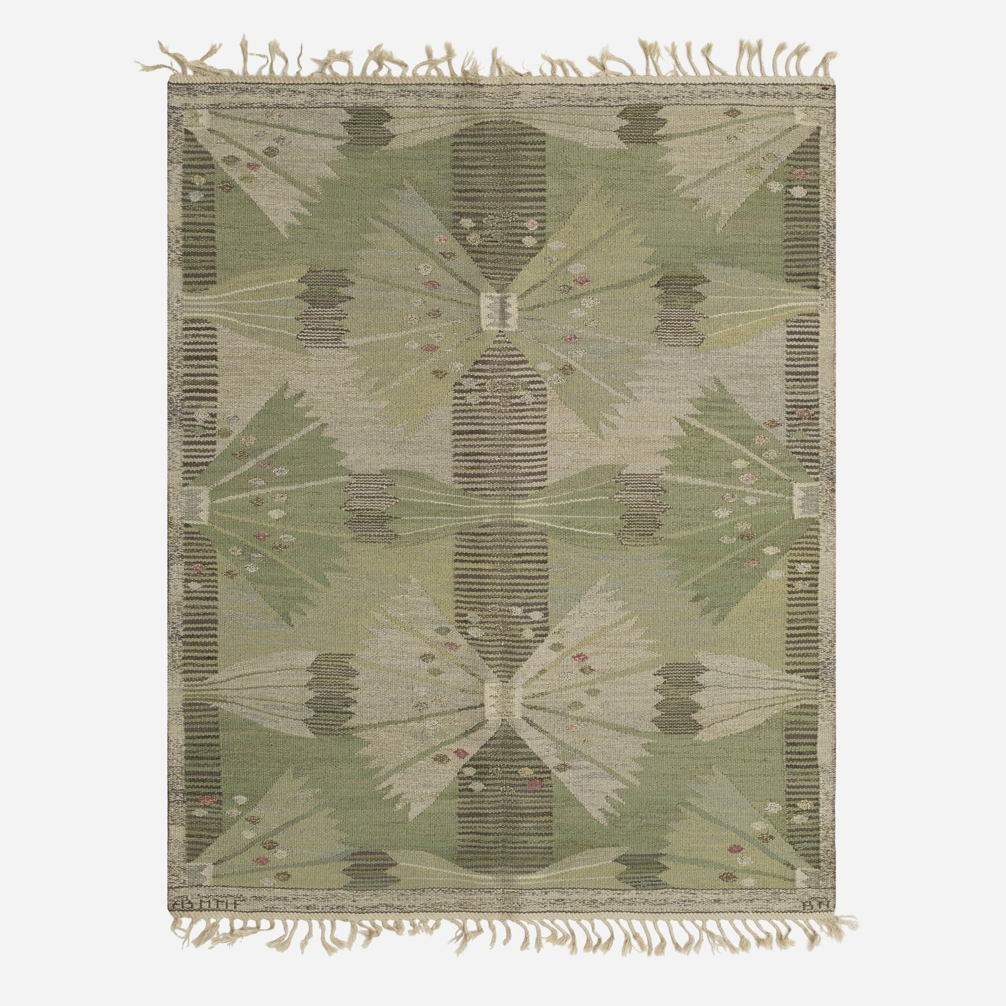113: Barbro Nilsson / The Park, Falkman tapestry weave carpet (1 of 2)