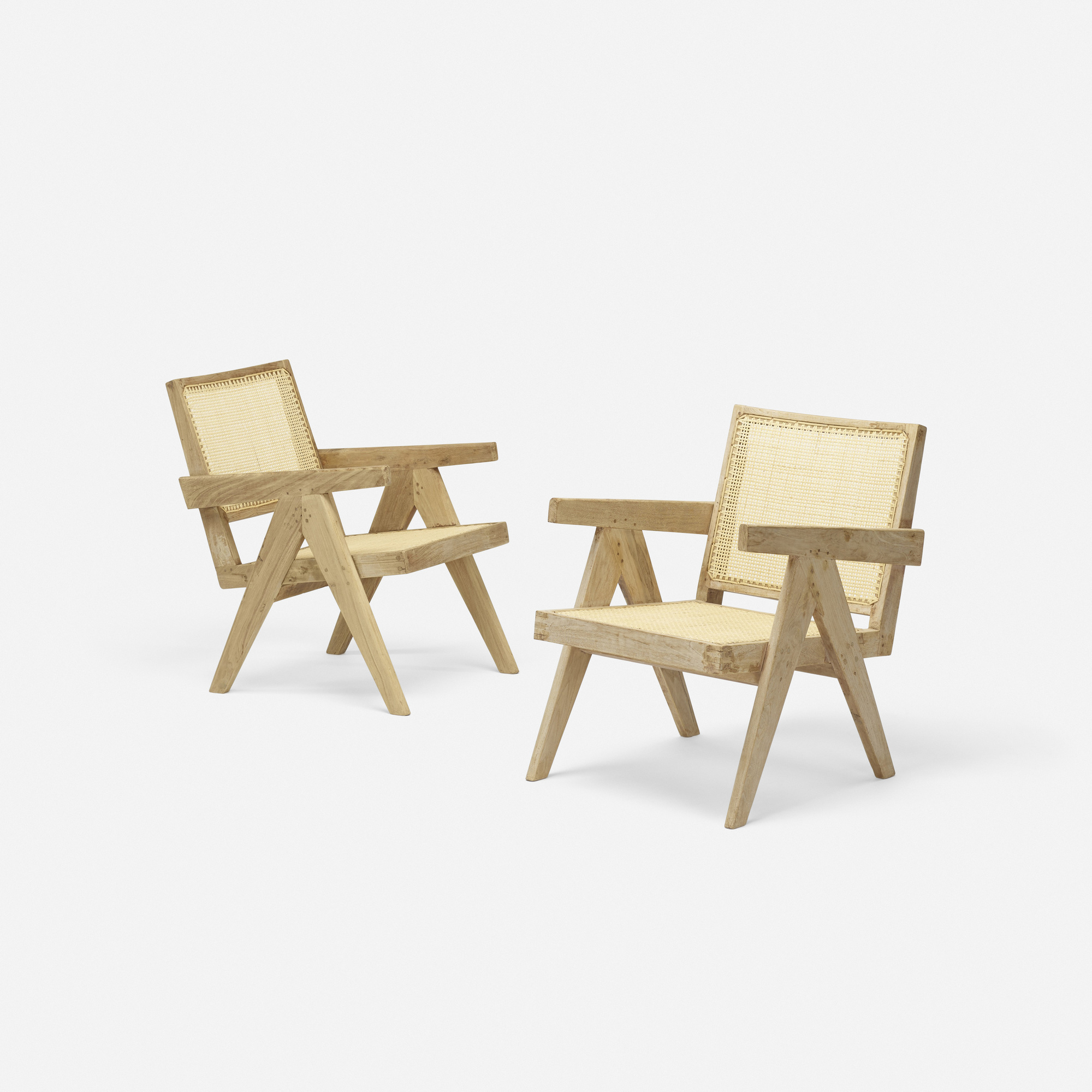113: Pierre Jeanneret / Easy armchairs from Chandigarh, set of two (2 of 4)