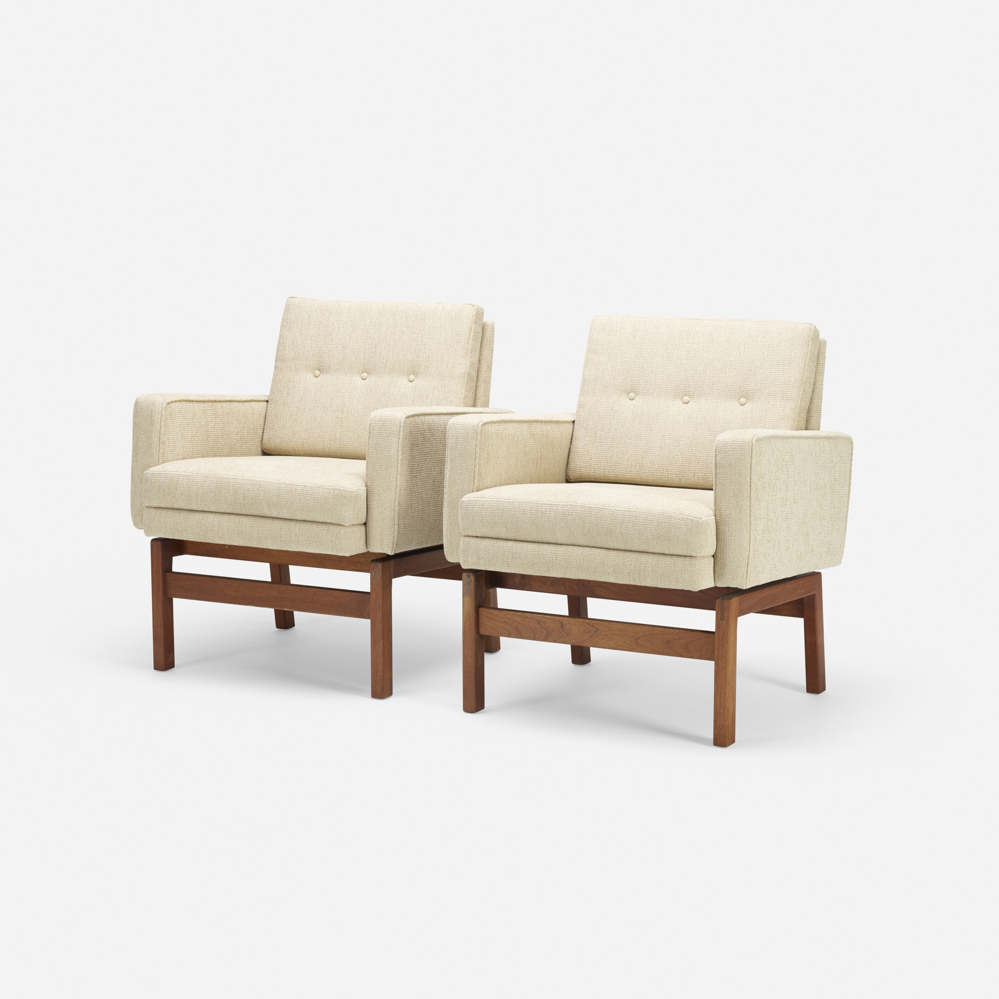 113: Jens Risom / lounge chairs, pair (2 of 3)