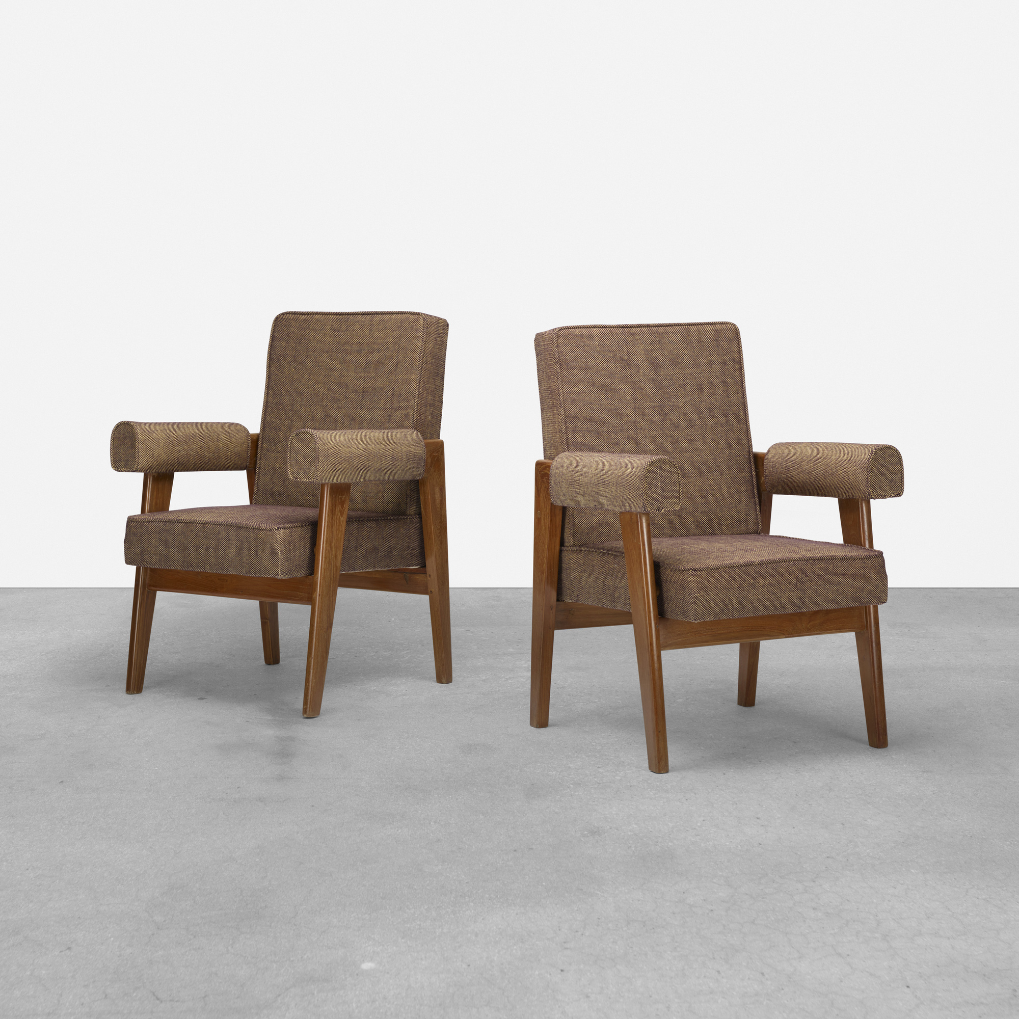 114: Le Corbusier and Pierre Jeanneret / pair of armchairs from the High Court, Chandigarh (1 of 4)