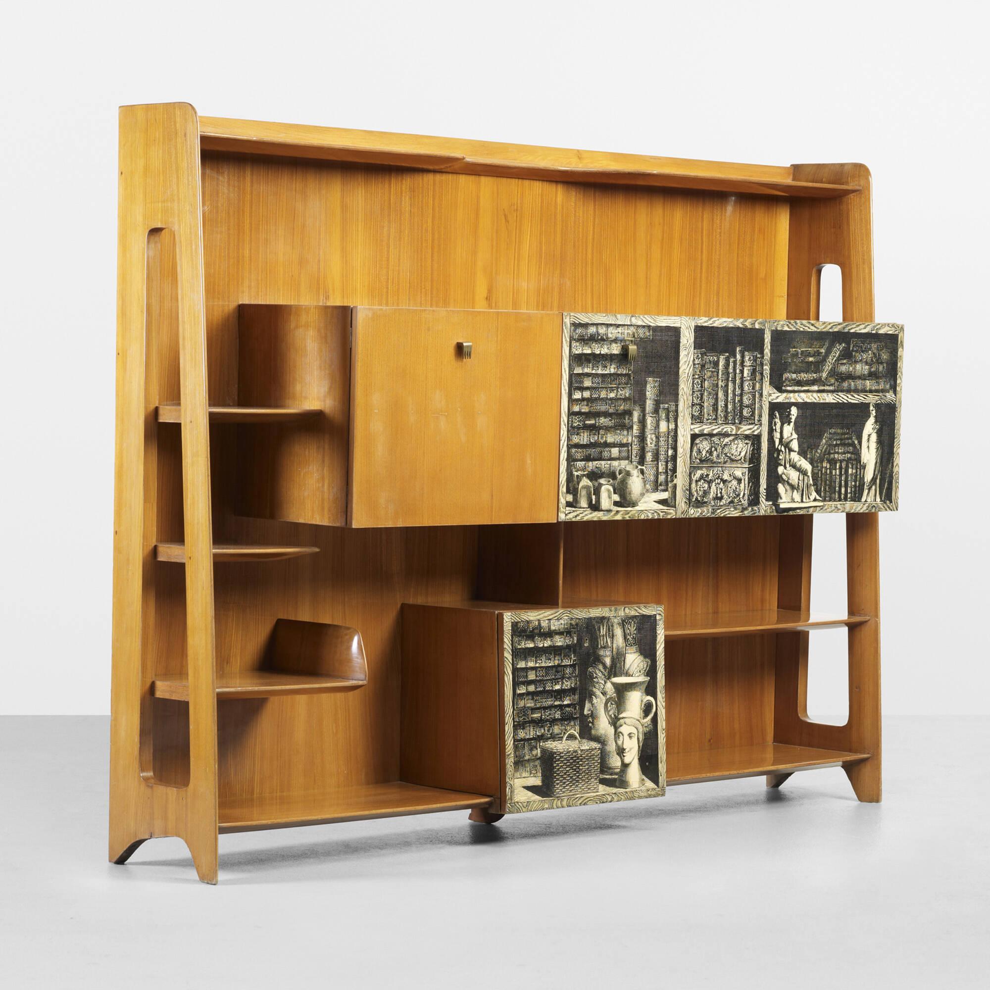 114 gio ponti and piero fornasetti important bookcase - Fornasetti mobili ...