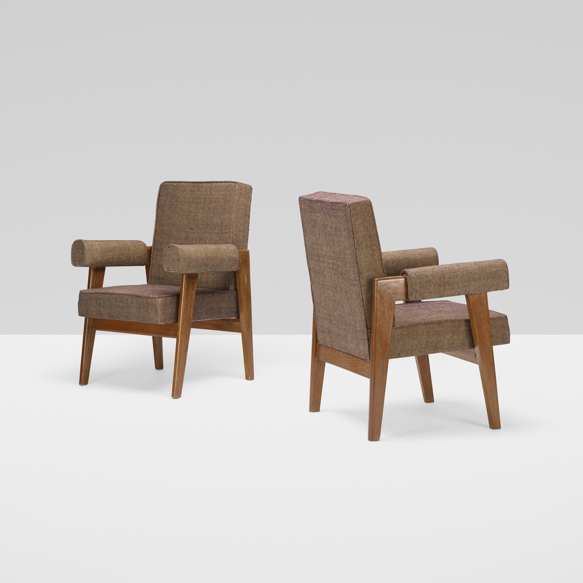 114: Le Corbusier and Pierre Jeanneret / pair of armchairs from the High Court, Chandigarh (2 of 4)