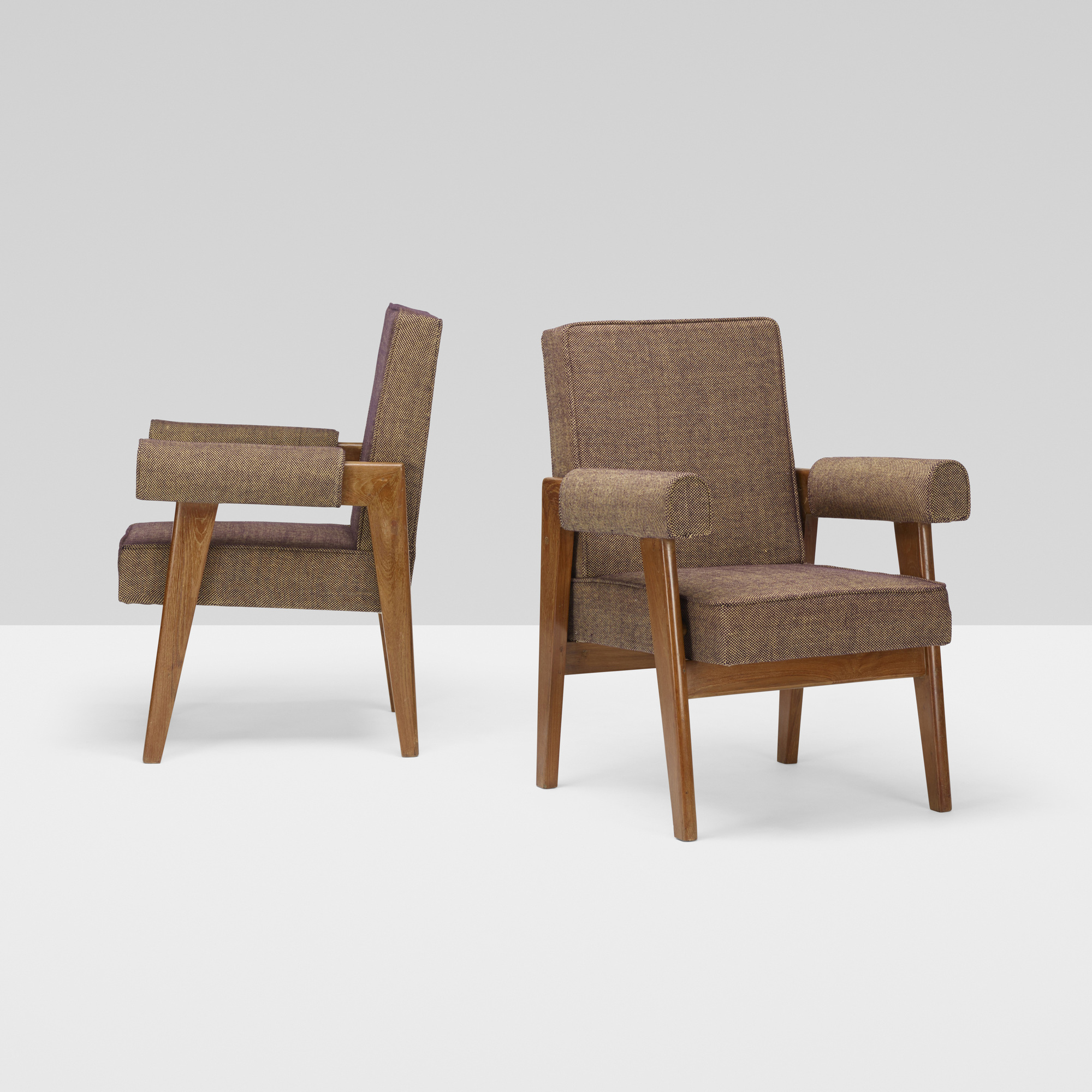 114: Le Corbusier and Pierre Jeanneret / pair of armchairs from the High Court, Chandigarh (3 of 4)