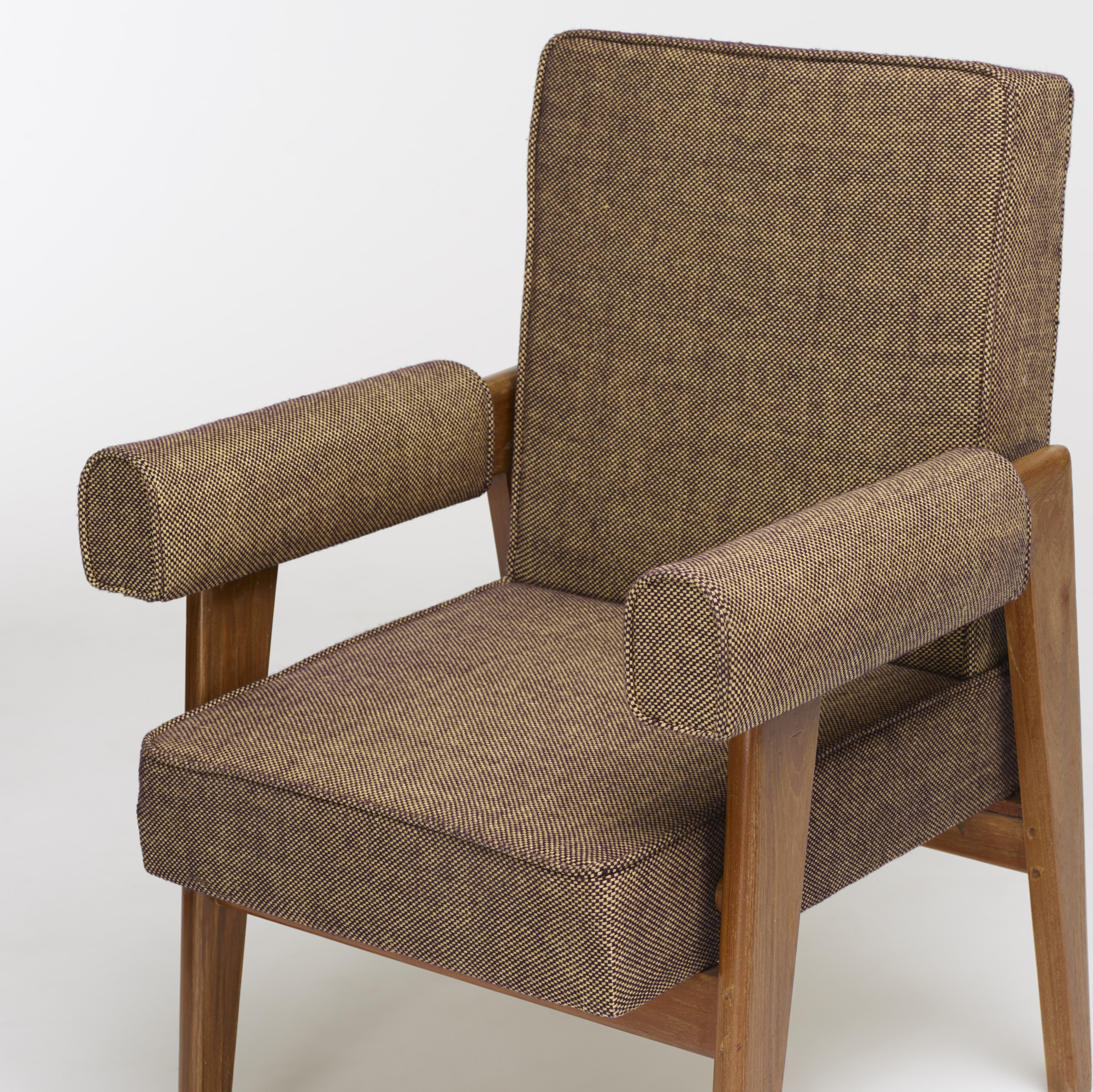 114: Le Corbusier and Pierre Jeanneret / pair of armchairs from the High Court, Chandigarh (4 of 4)