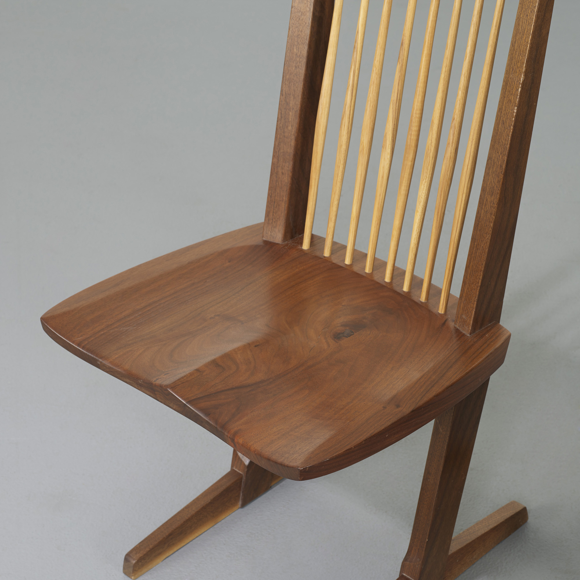 ... 114: George Nakashima / Conoid Dining Chairs, Set Of Six (5 Of 5