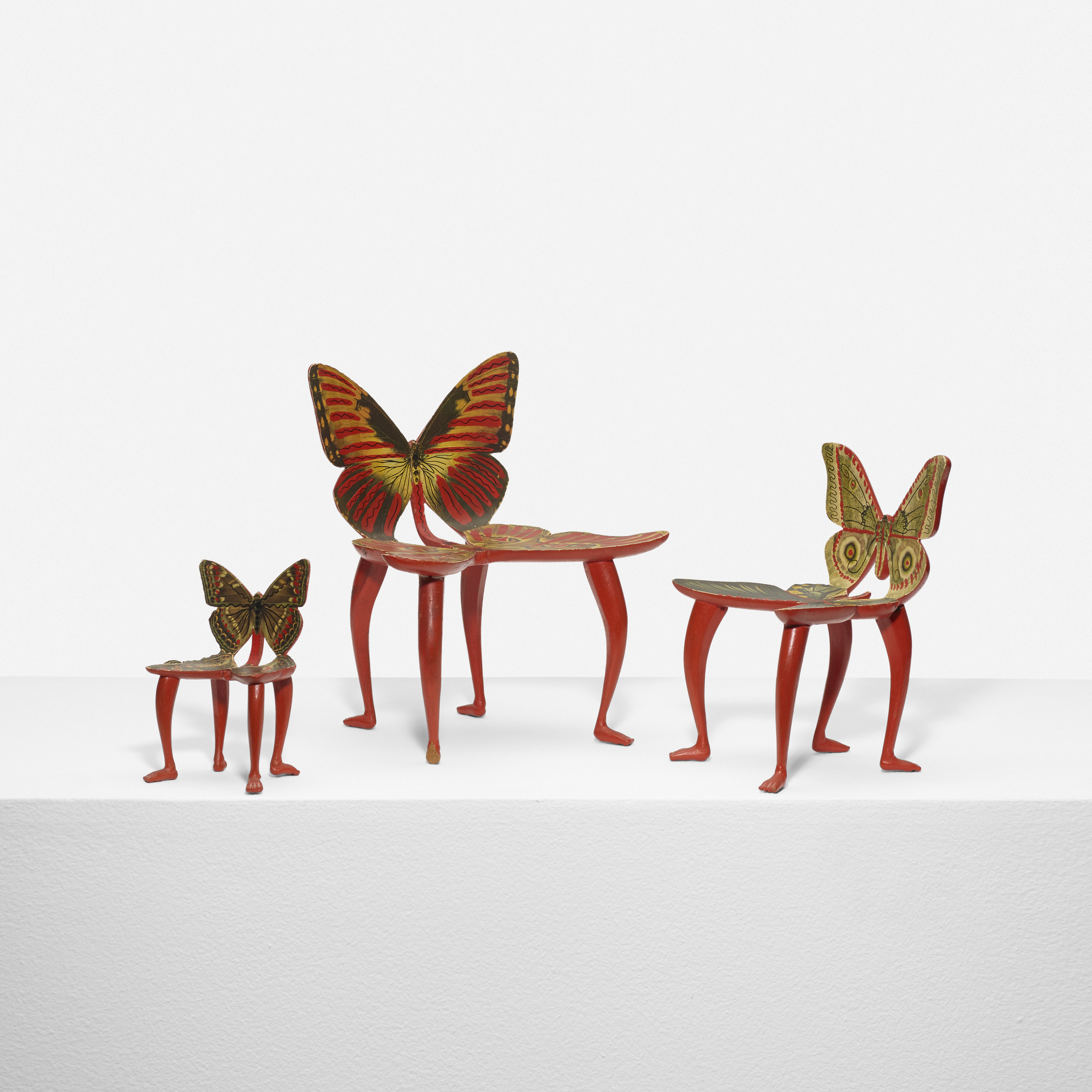 115: Pedro Friedeberg / set of three miniature Butterfly chair models (1 of 3)