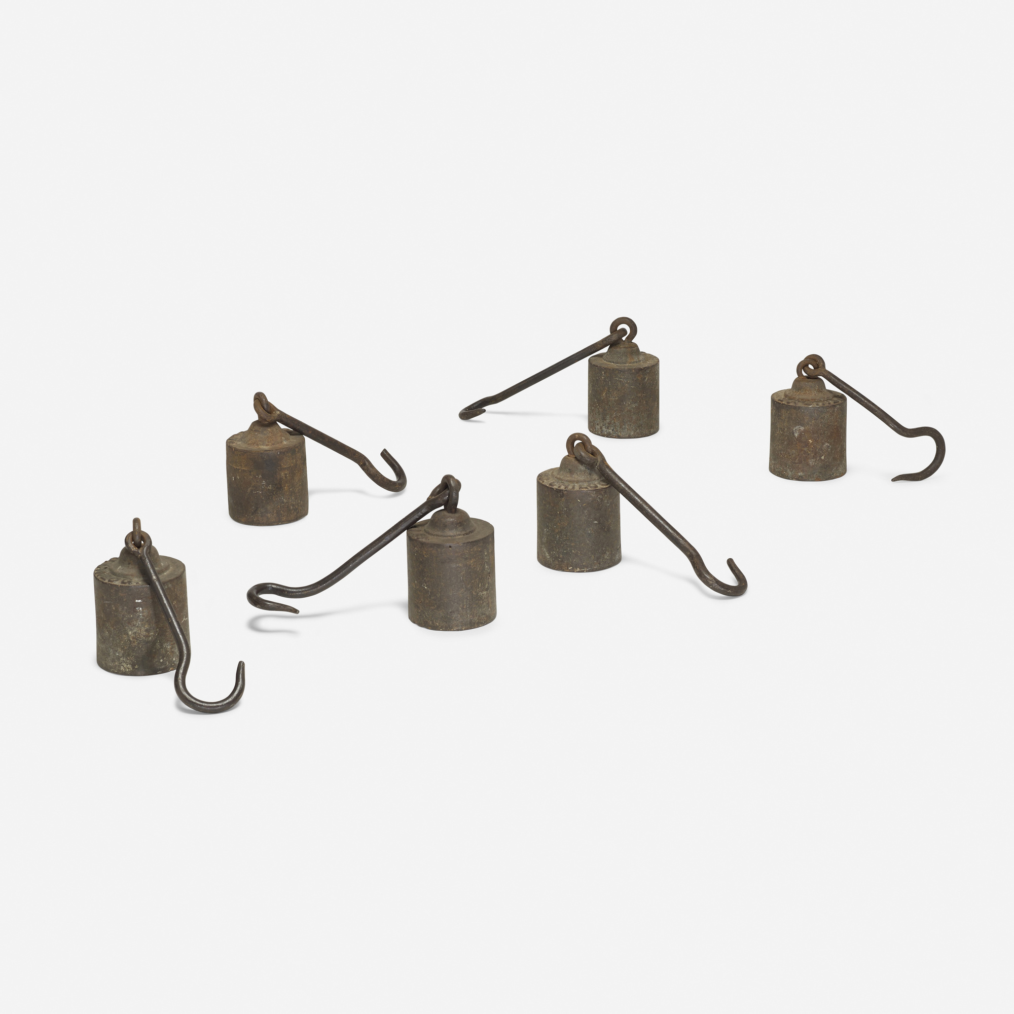 115: Industrial / scale weights, set of six (1 of 1)