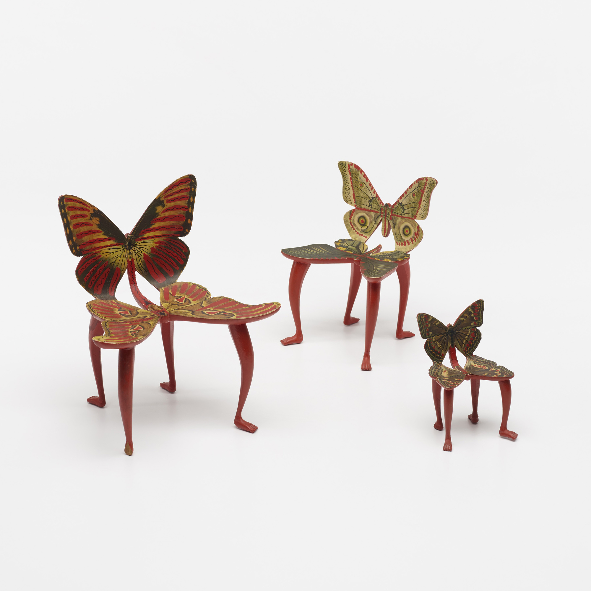 115: Pedro Friedeberg / set of three miniature Butterfly chair models (2 of 3)