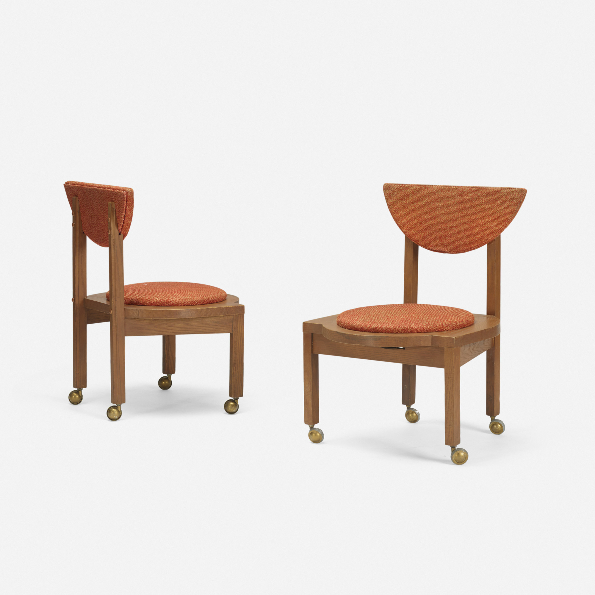 116 frank lloyd wright pair of dining chairs from the riverview terrace restaurant