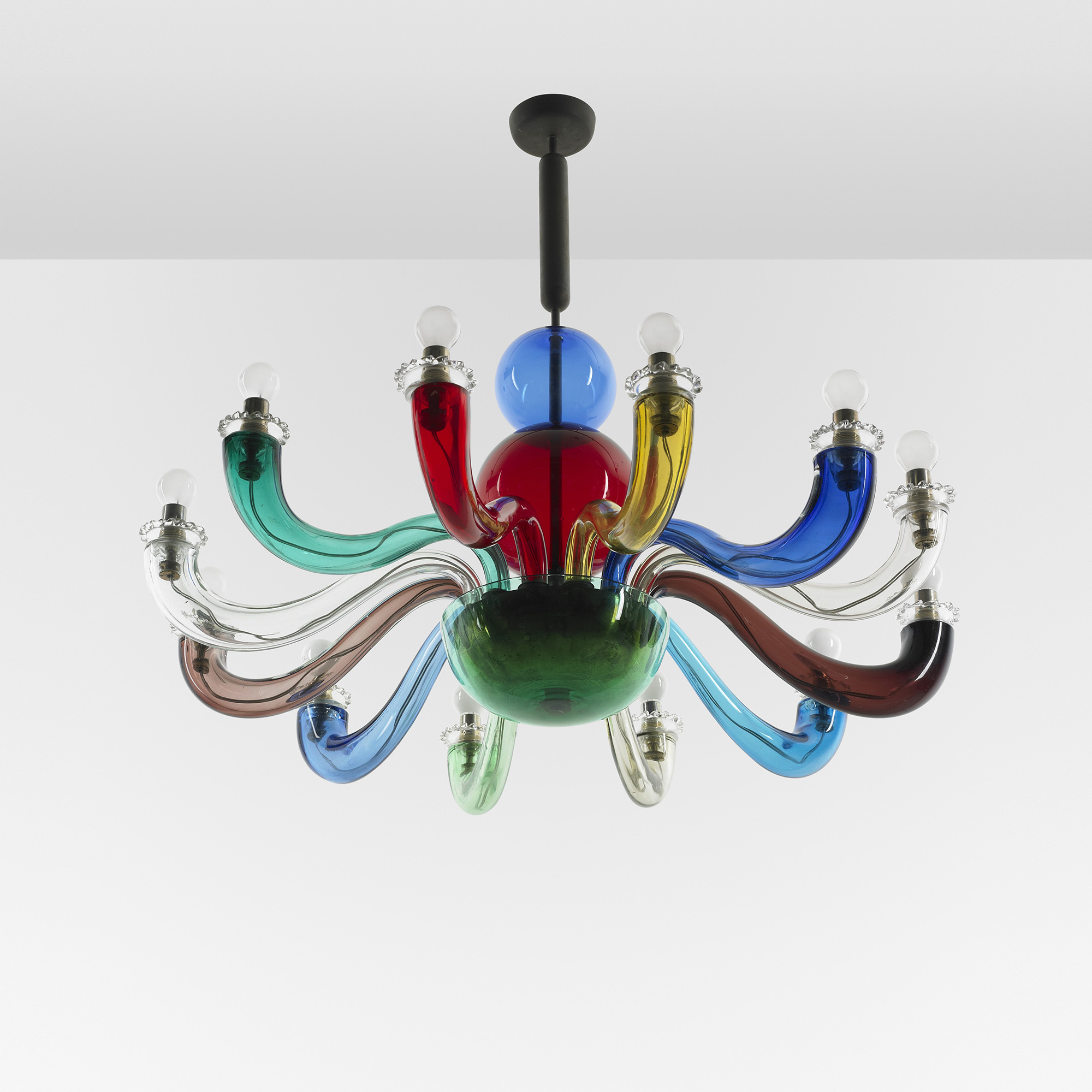 Lampadario Gio Ponti Venini.Gio Ponti Chandelier From The Ponti Residence In Liguria