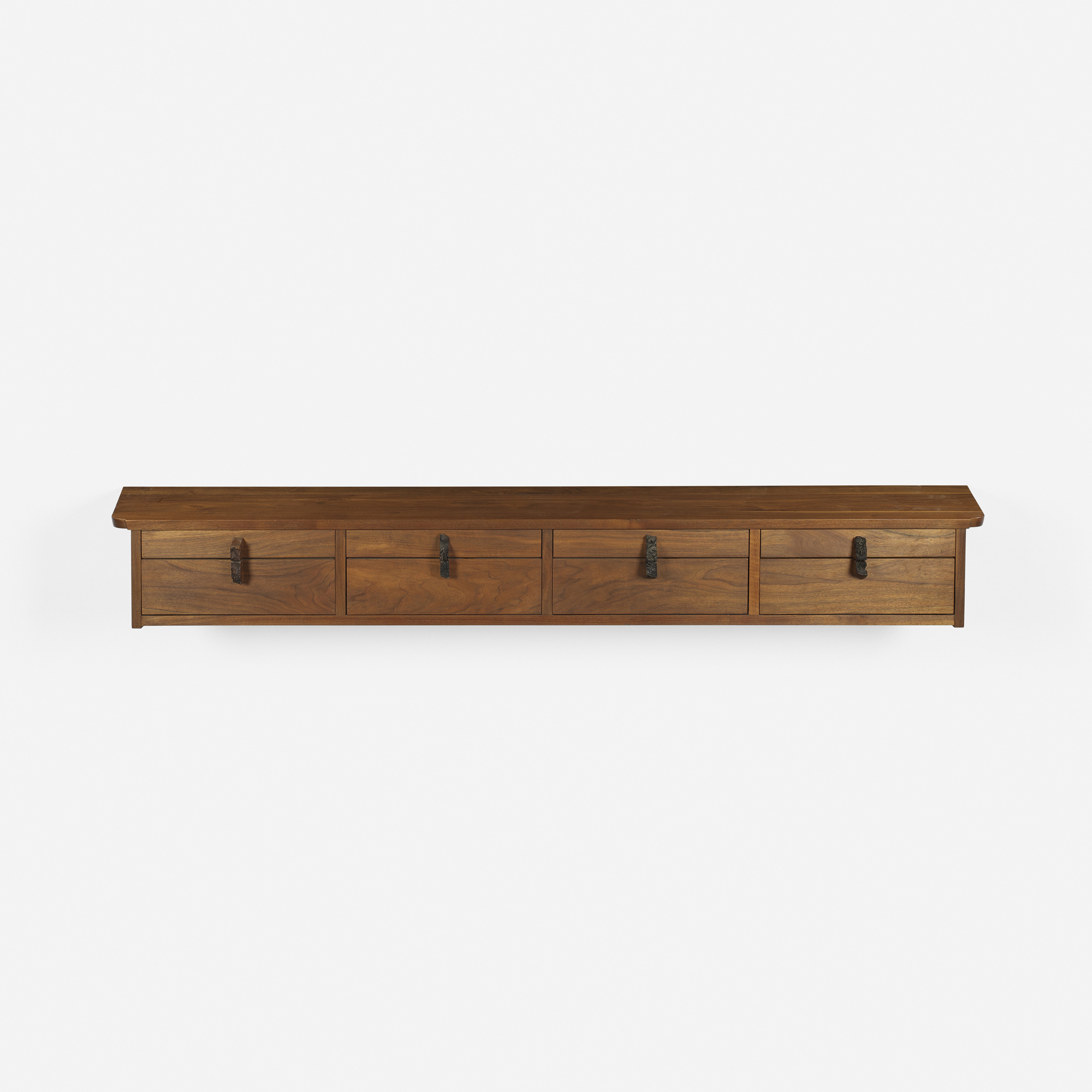 Hanging Wall Cabinet 116: george nakashima / important and early hanging wall cabinet