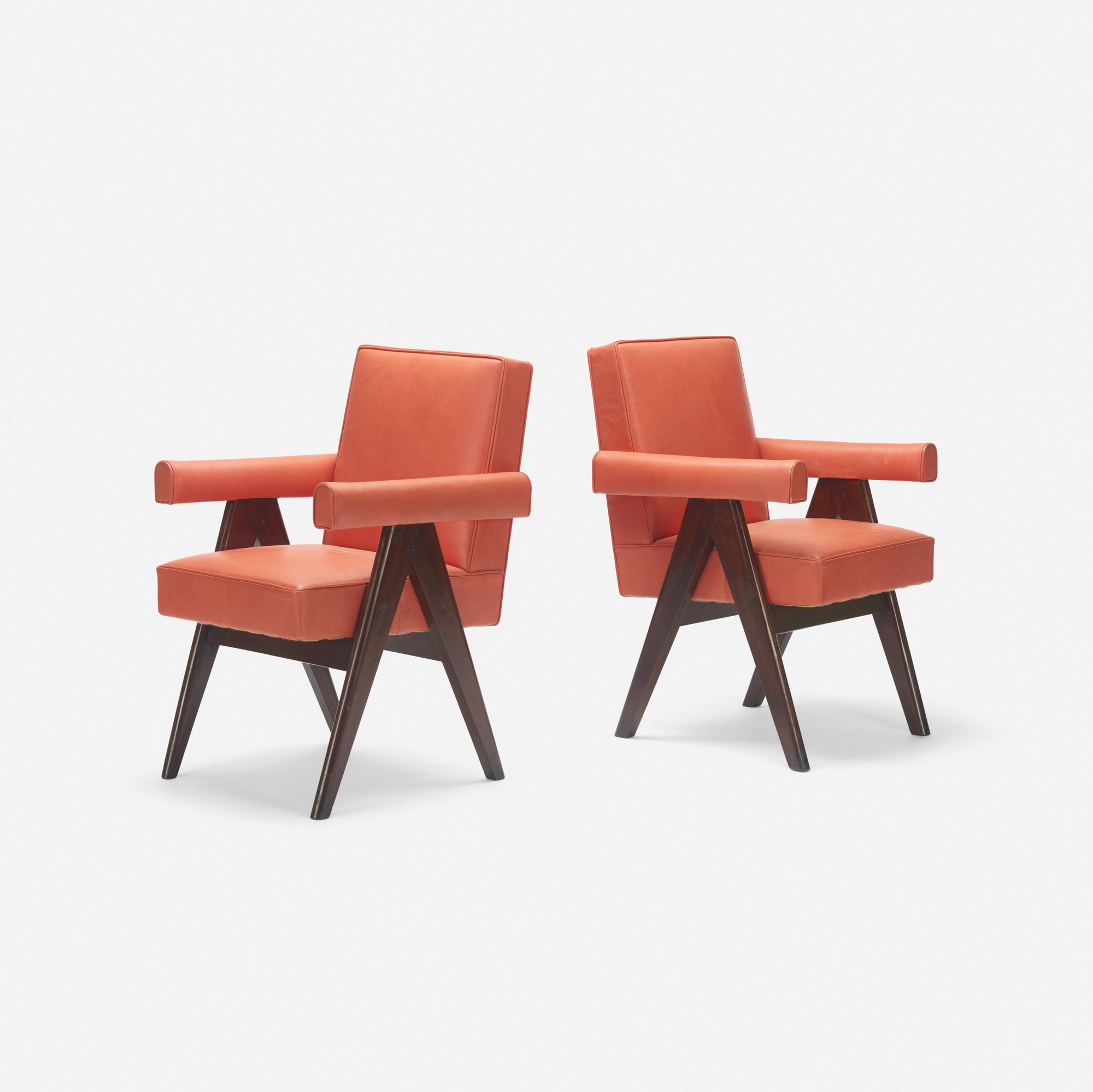 117: Pierre Jeanneret / pair of Committee armchairs from the High Court, Chandigarh (1 of 3)