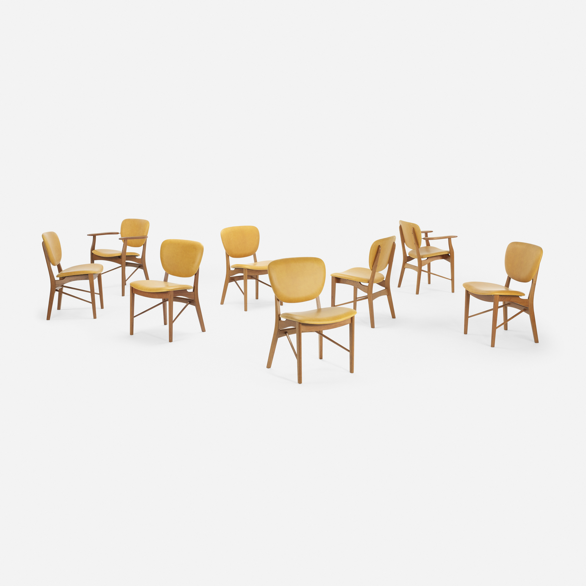 117: Finn Juhl, attribution / dining chairs, set of eight (1 of 5)