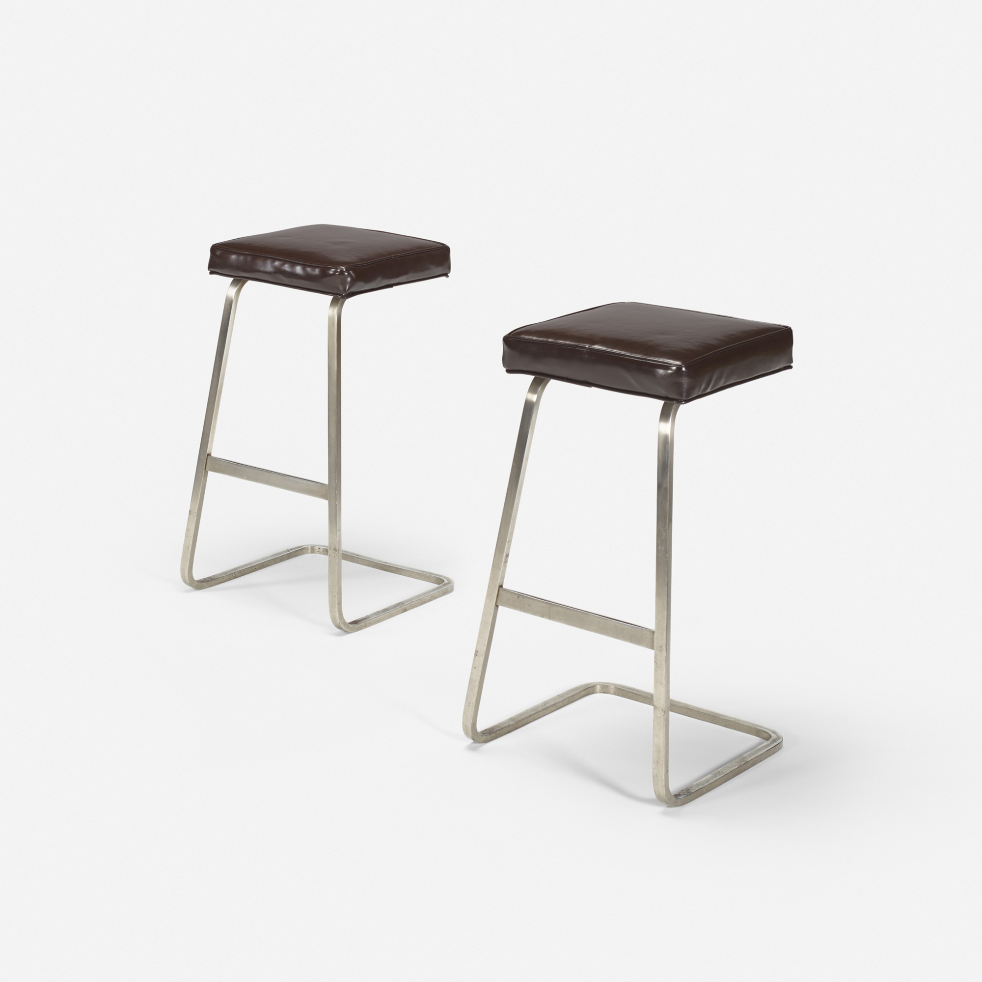 117: Ludwig Mies van der Rohe with Philip Johnson / Four Seasons bar stools from the Grill Room, pair (1 of 1)