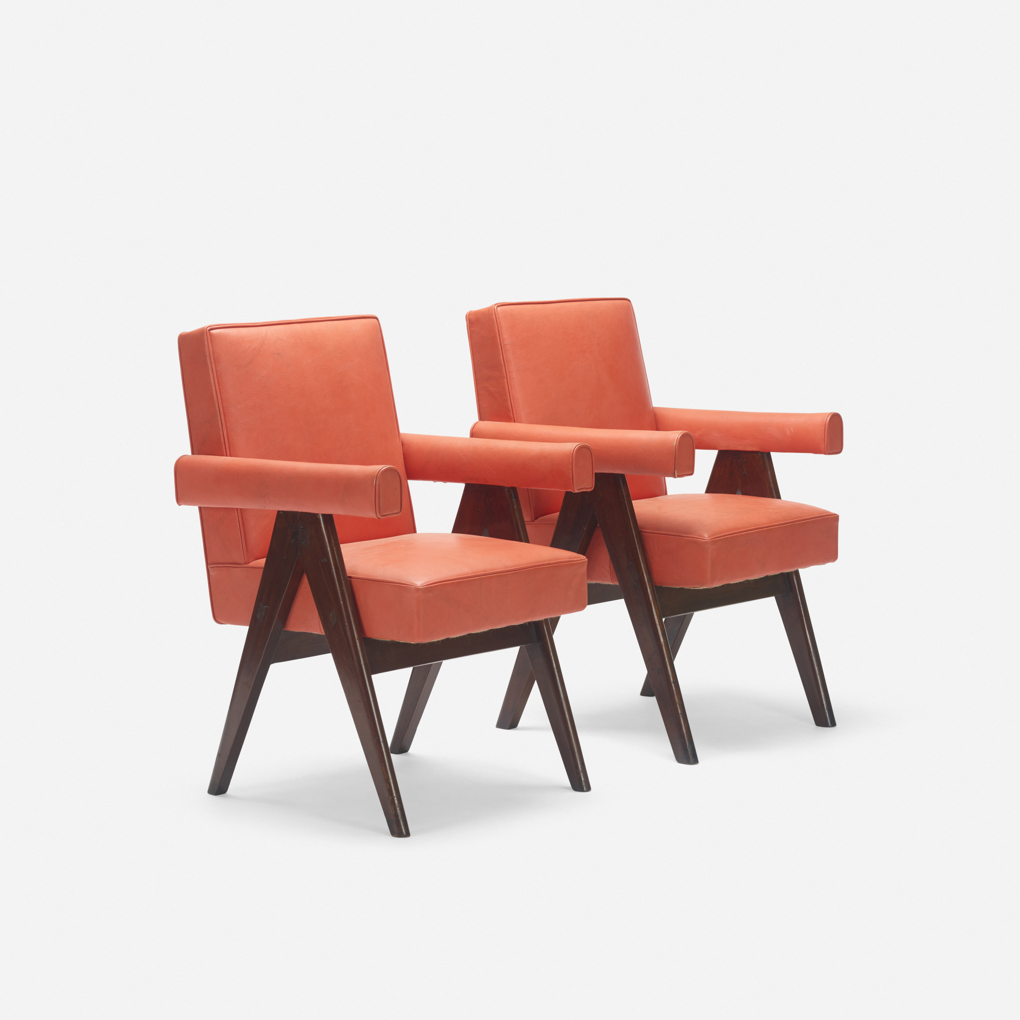 117: Pierre Jeanneret / pair of Committee armchairs from the High Court, Chandigarh (2 of 3)