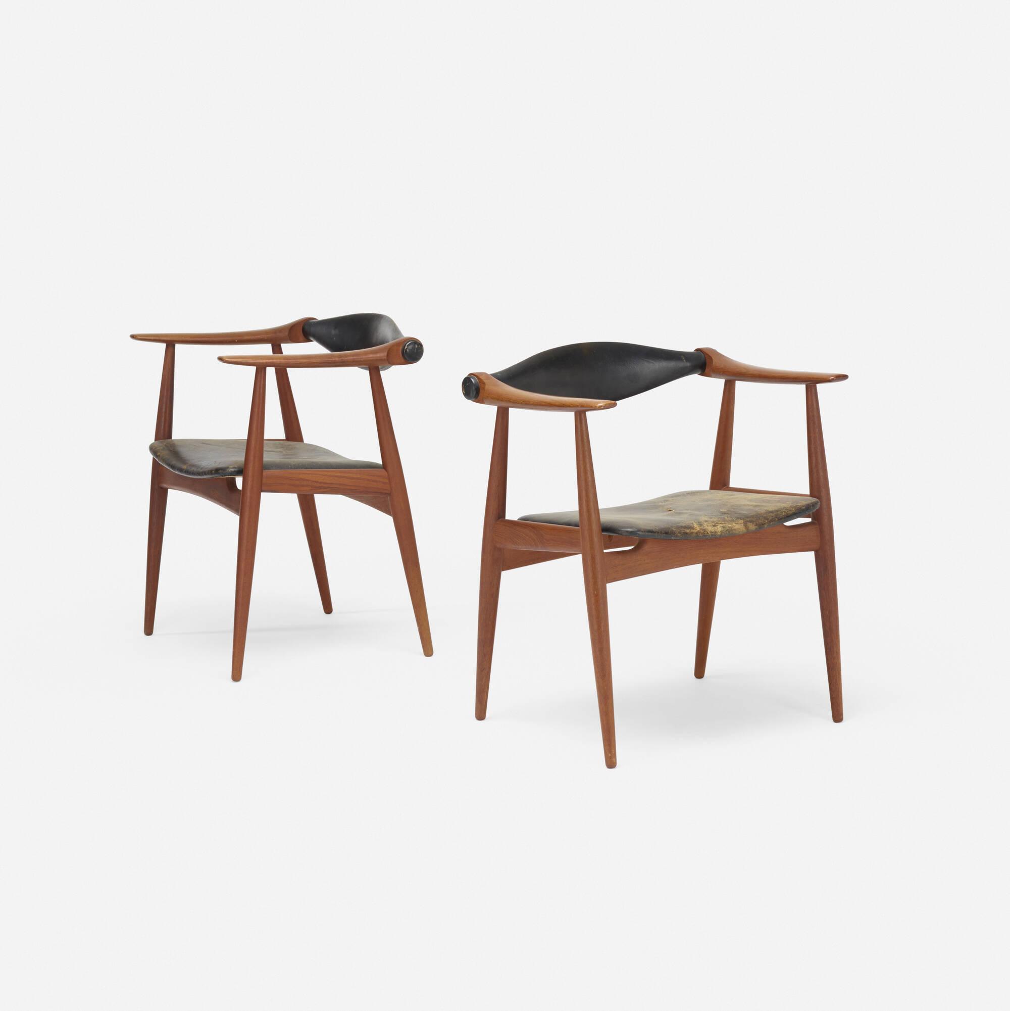117: Hans J. Wegner / armchairs model CH34, pair (2 of 4)