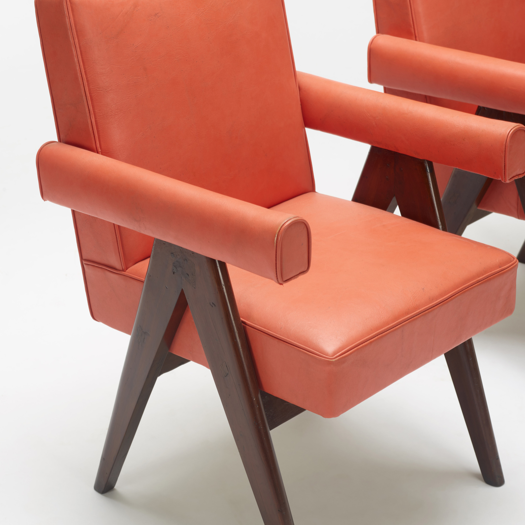 117: Pierre Jeanneret / pair of Committee armchairs from the High Court, Chandigarh (3 of 3)