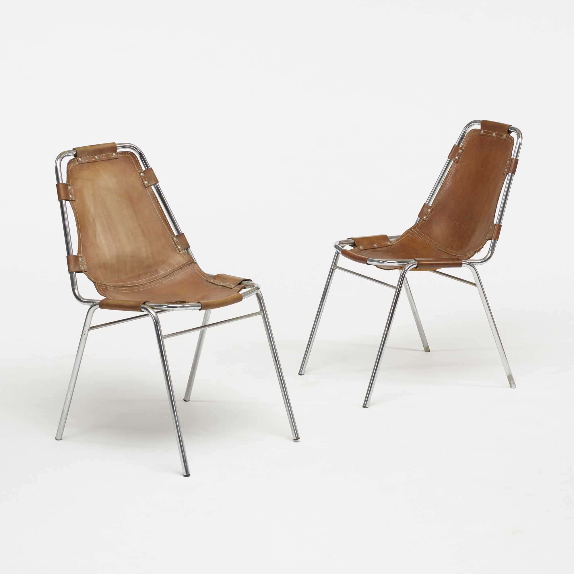 117: Charlotte Perriand / dining chairs from Les Arcs, set of ten (4 of 5)