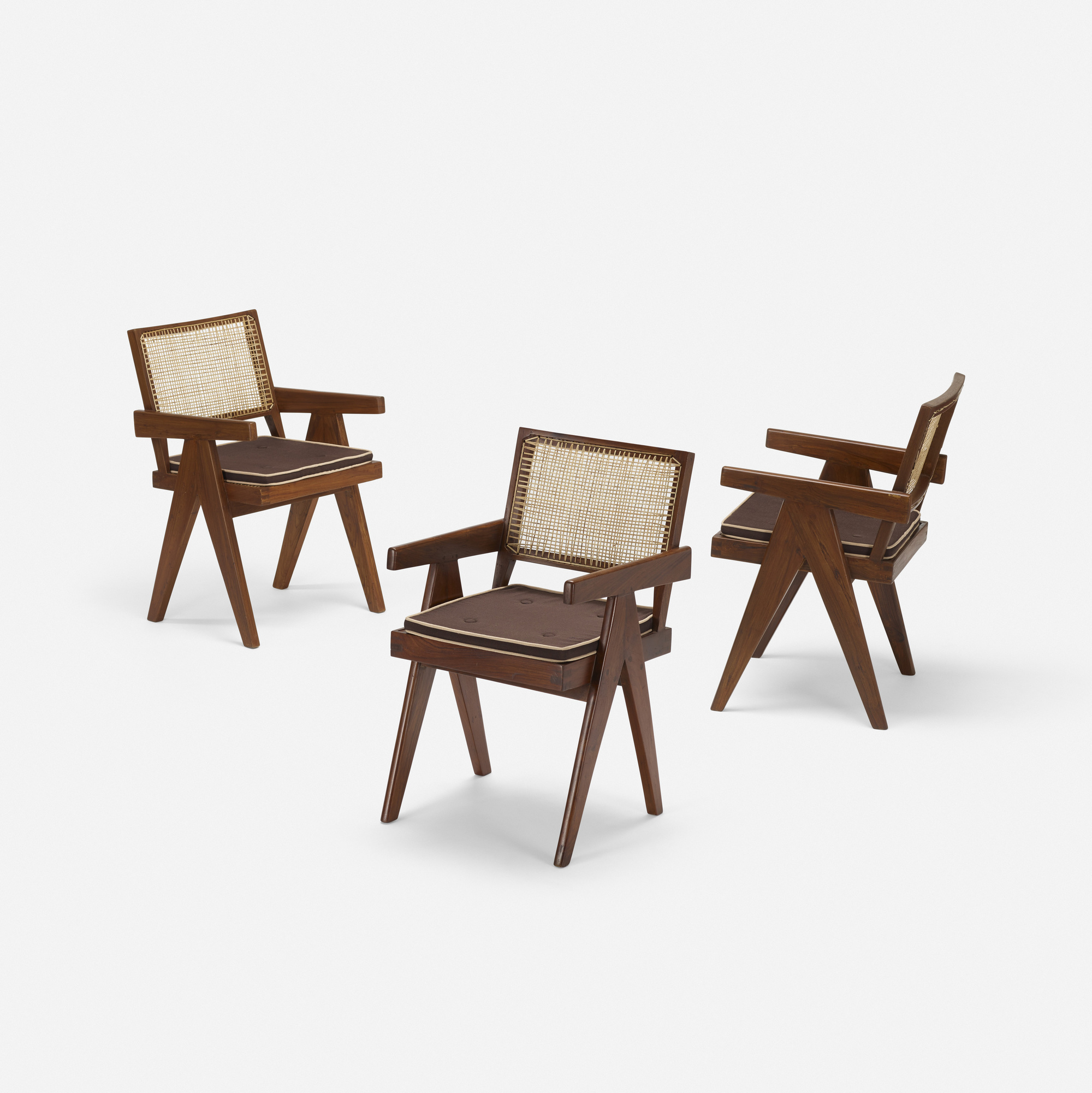 118: Pierre Jeanneret / set of six armchairs from Chandigarh (2 of 3)