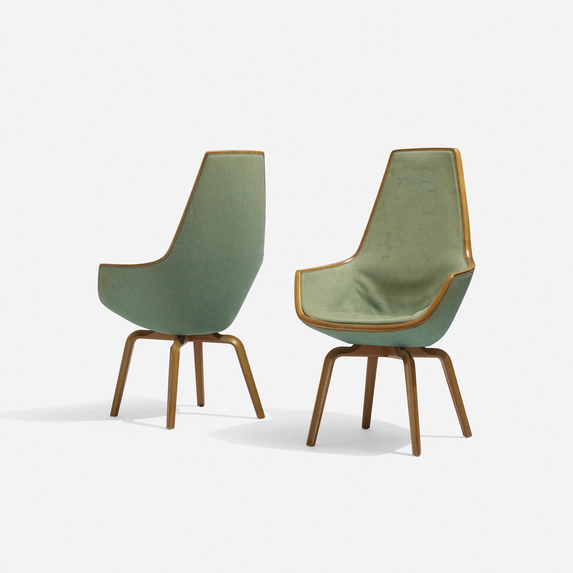 ... 119: Arne Jacobsen / Pair Of Giraffe Chair From The SAS Royal Hotel,  Copenhagen
