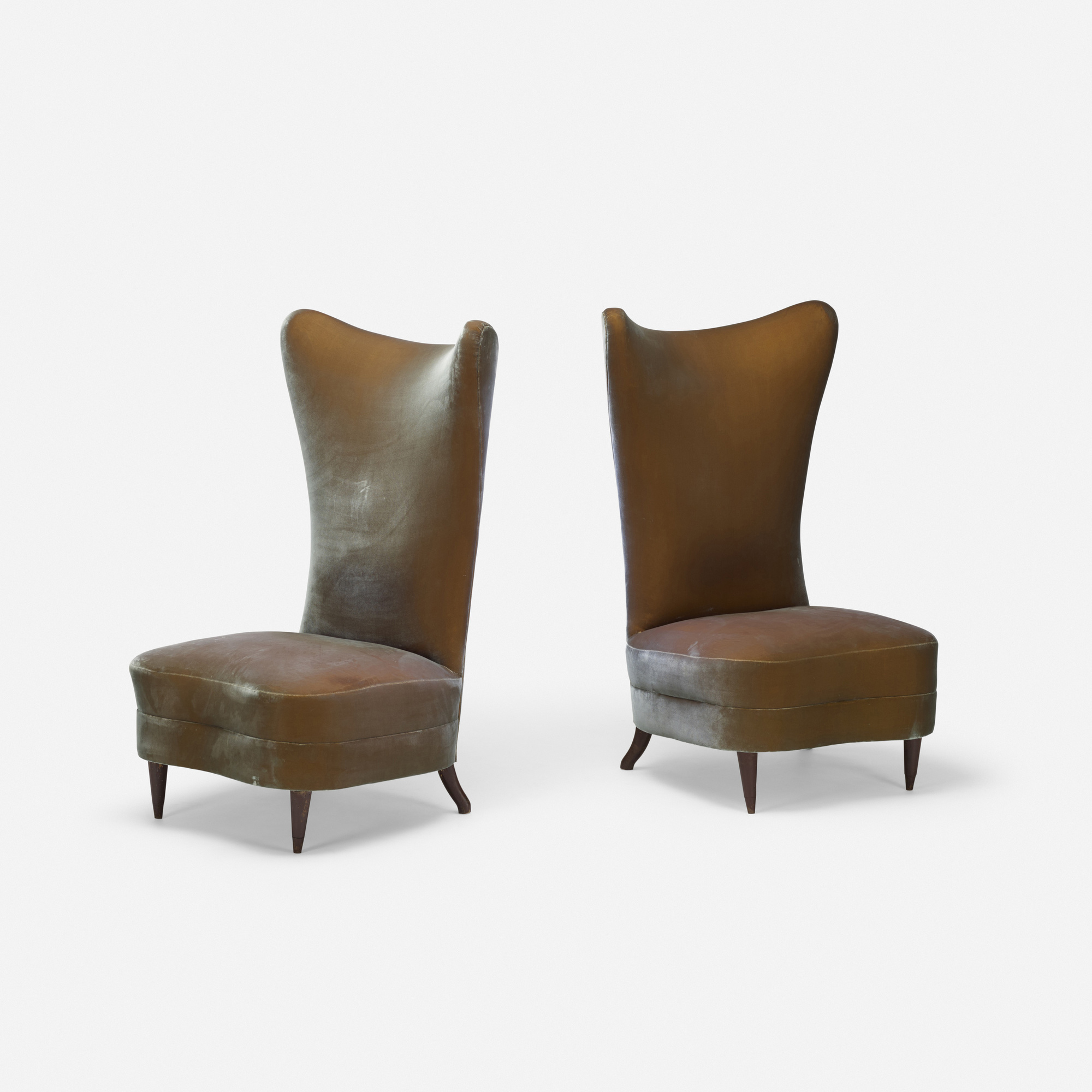 120: American / slipper chairs, pair (1 of 3)