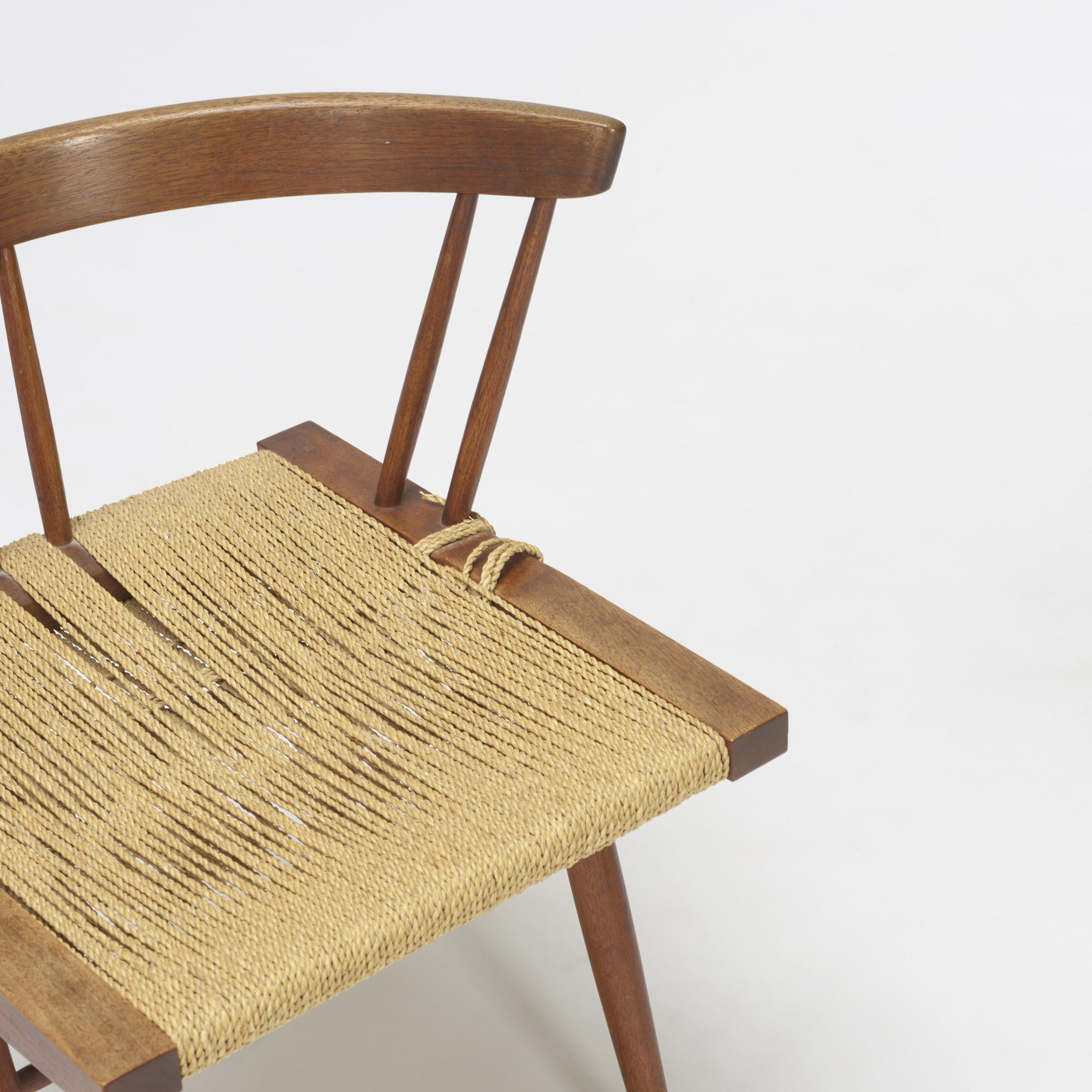 ... 120: George Nakashima / Grass Seated Chairs, Pair (2 Of 2)