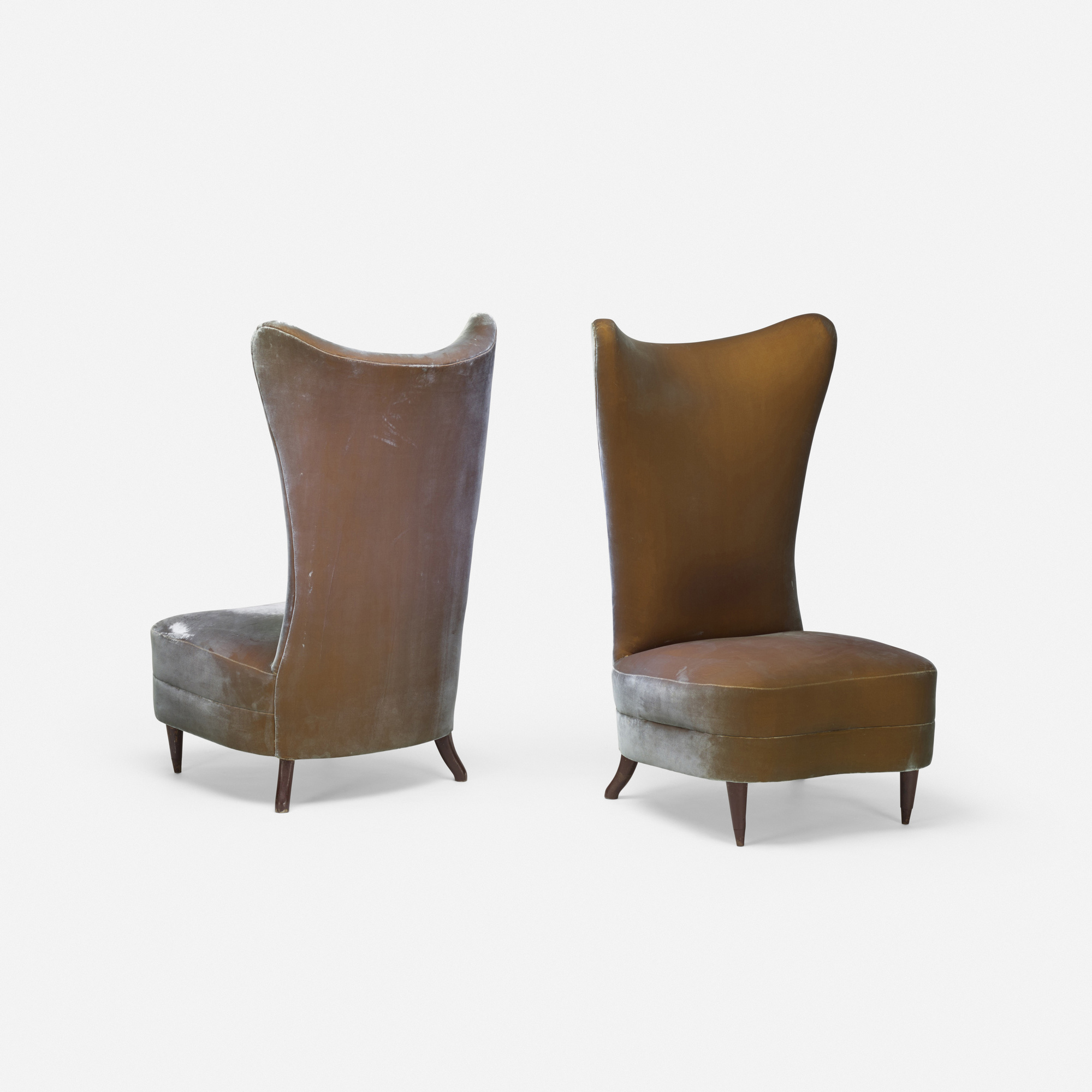 120: American / slipper chairs, pair (2 of 3)