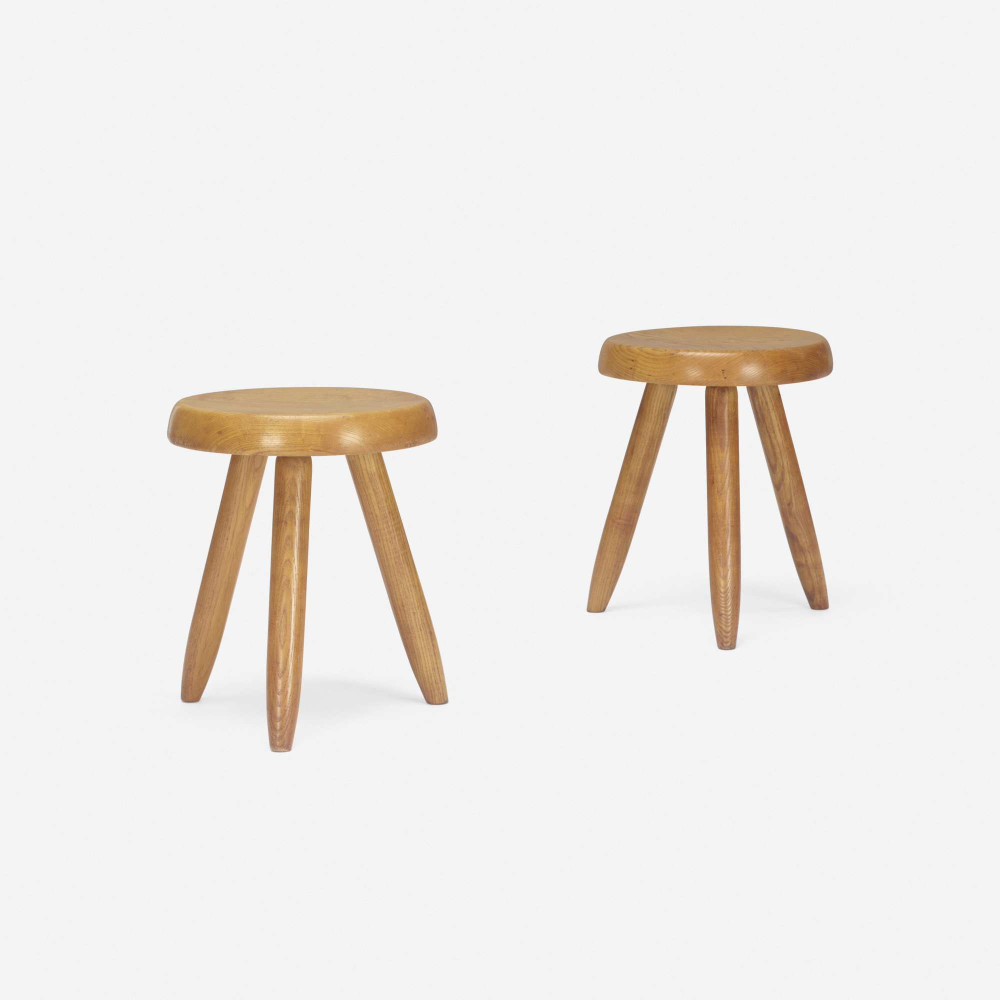 121: Charlotte Perriand / stools, pair (1 of 2)