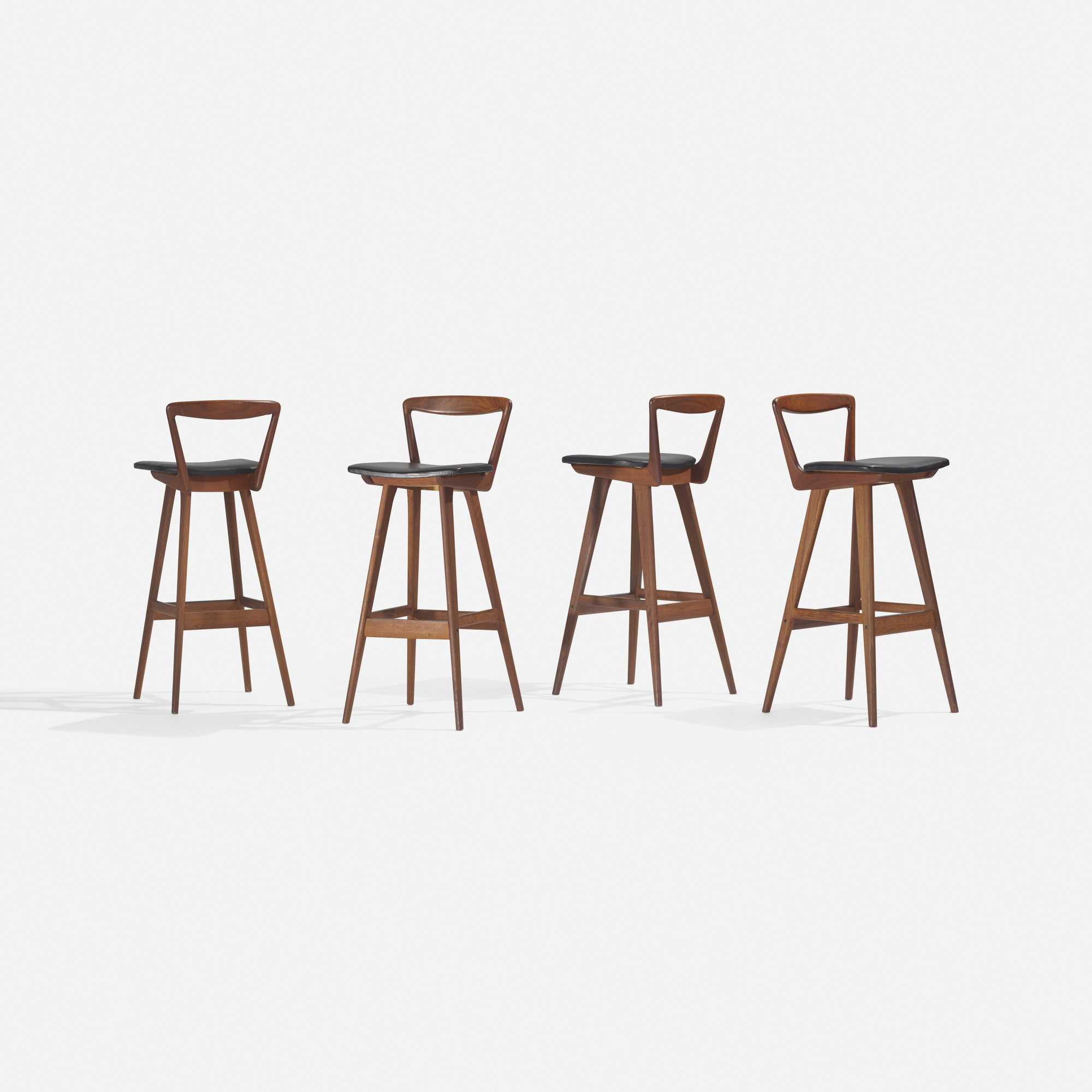 121: Henry Rosengren Hansen / stools, set of four (1 of 2)