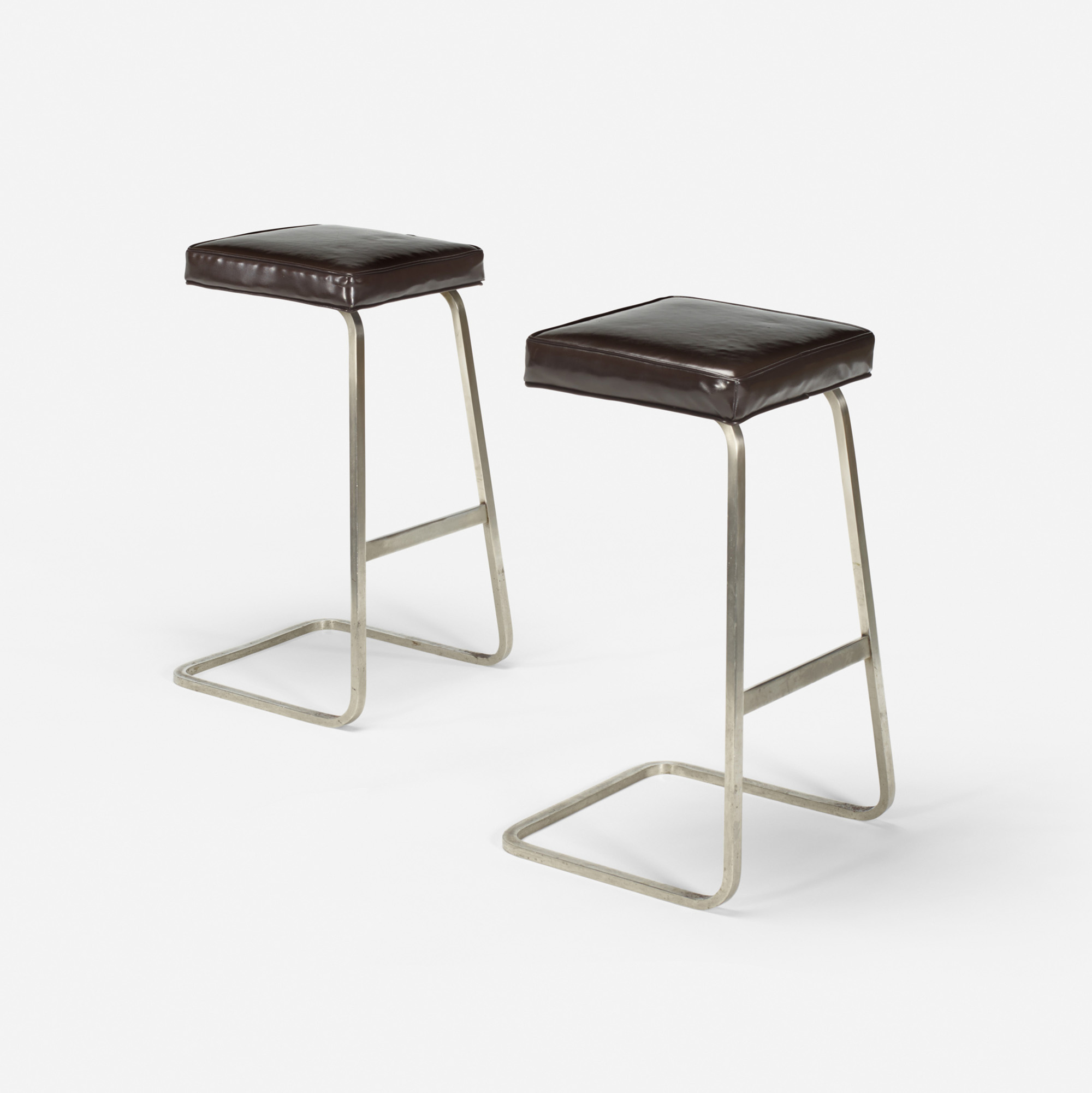121: Ludwig Mies van der Rohe with Philip Johnson / Four Seasons bar stools from the Grill Room, pair (1 of 1)