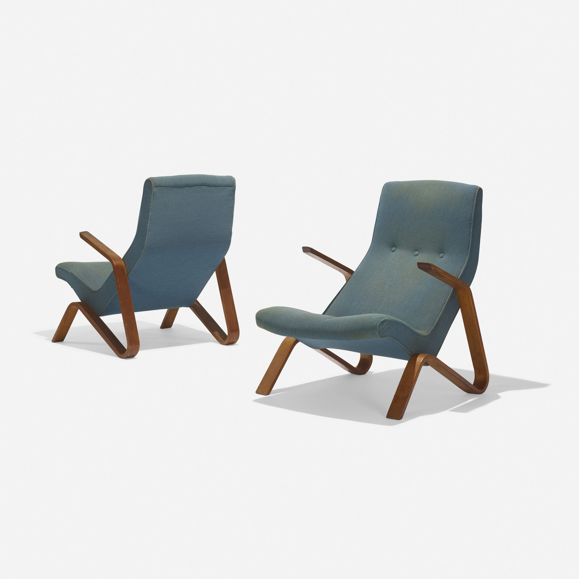 ... 121: Eero Saarinen / Grasshopper Chairs, Pair (2 Of 3)