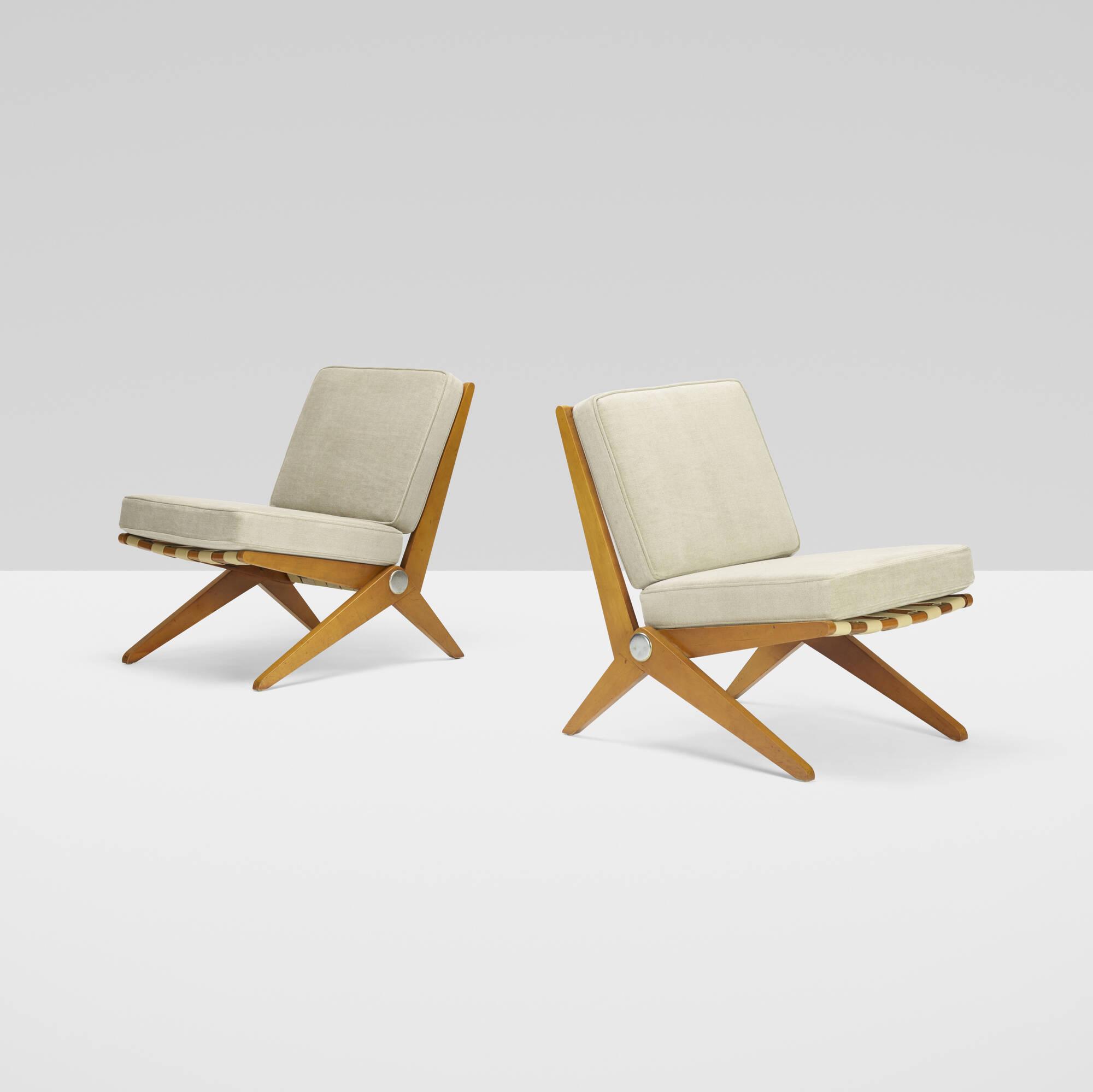 121: Pierre Jeanneret / Scissor chairs, pair (2 of 2)