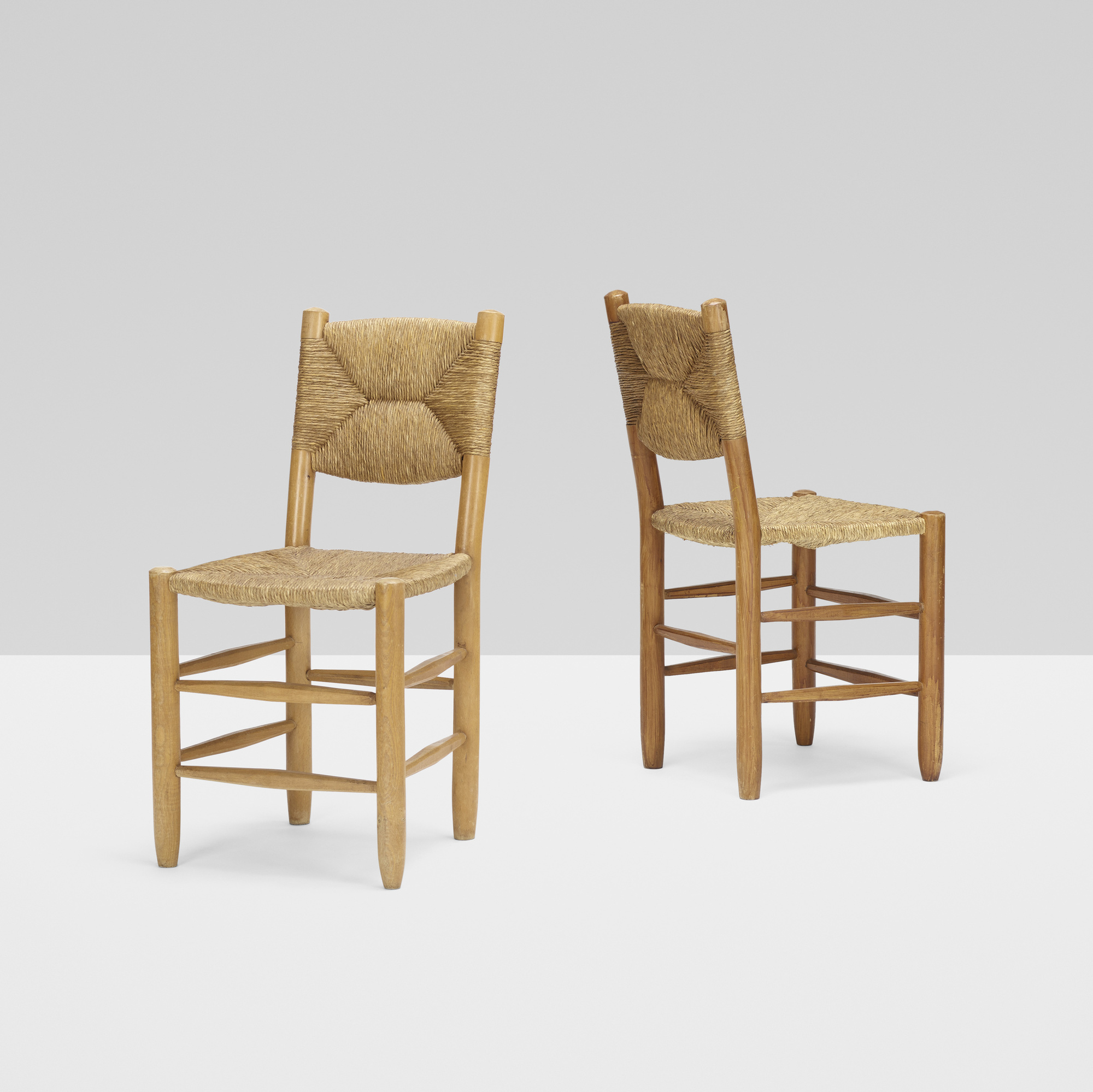 123: Charlotte Perriand / dining chairs, pair (1 of 4)
