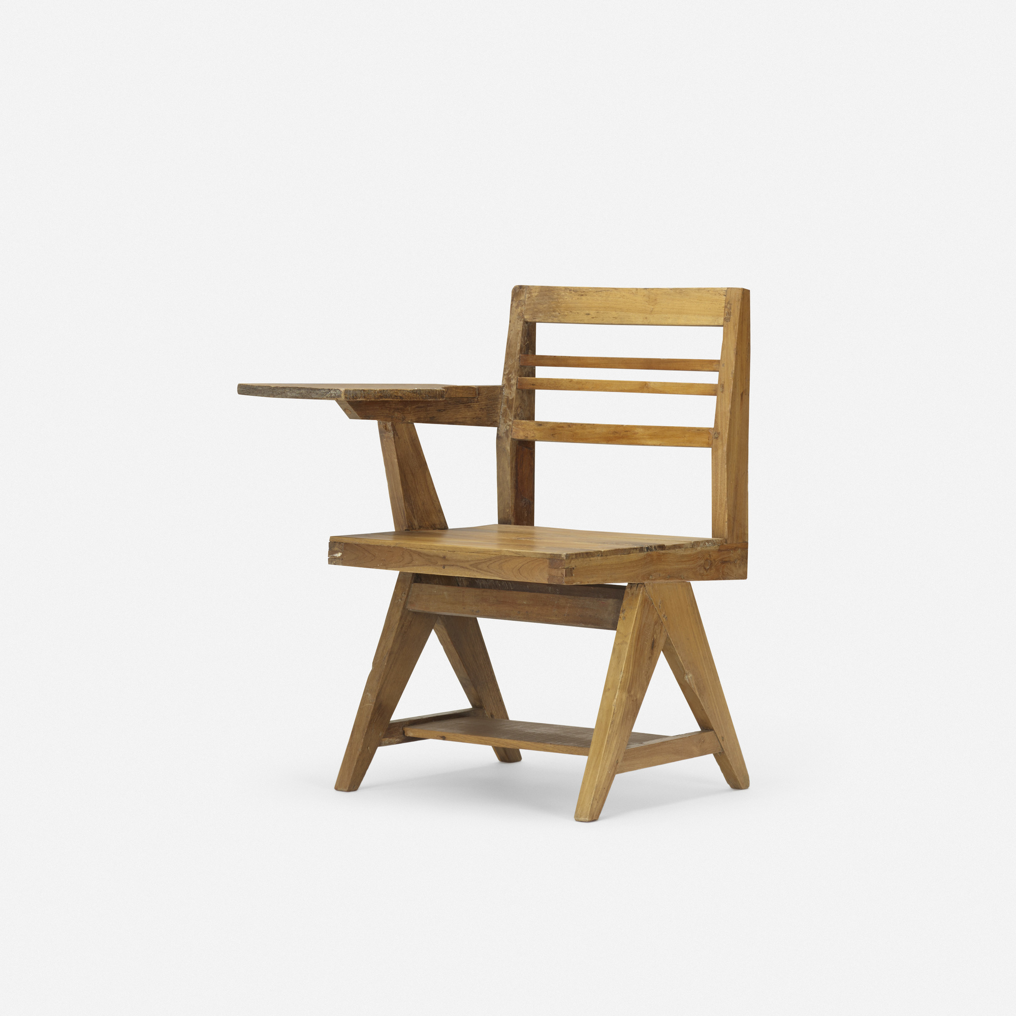 123: Pierre Jeanneret / Writing Chair From Punjab University, Chandigarh (1  Of 3