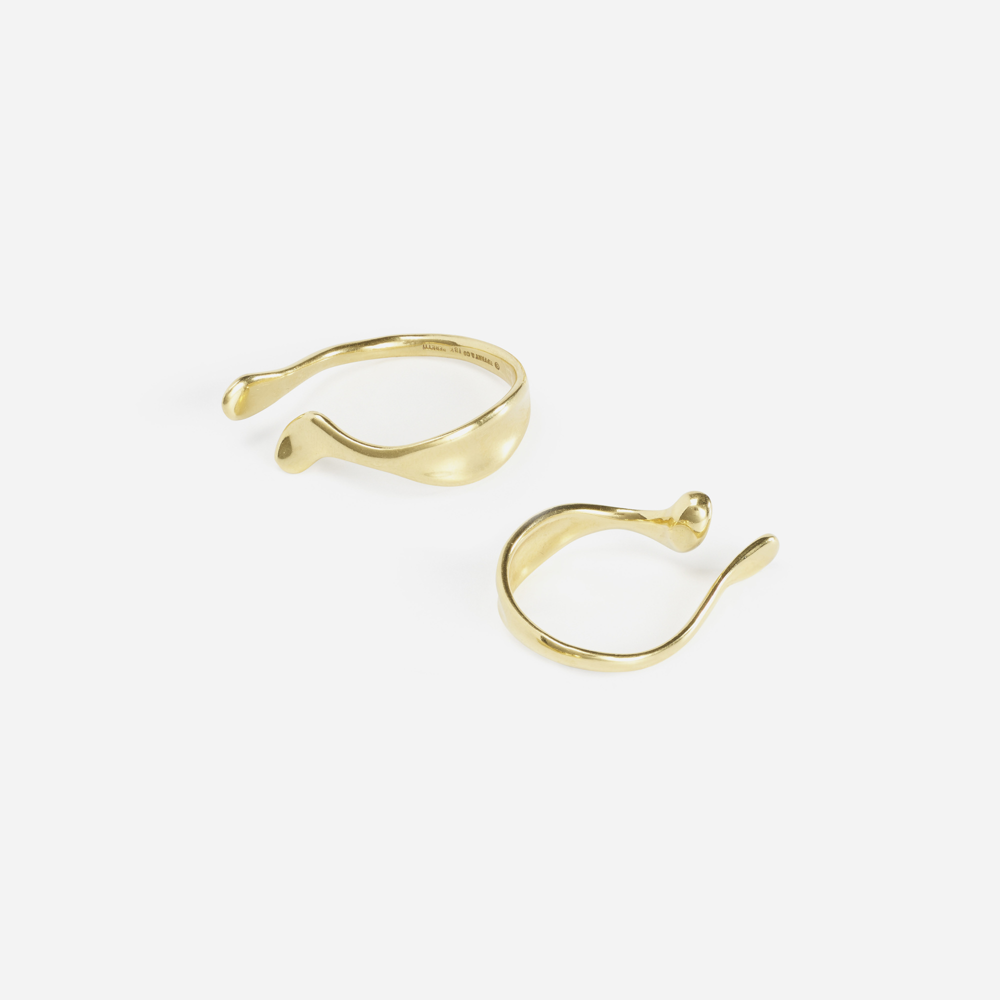 123: Elsa Peretti for Tiffany & Co. / A pair of gold ear cuffs (1 of 1)