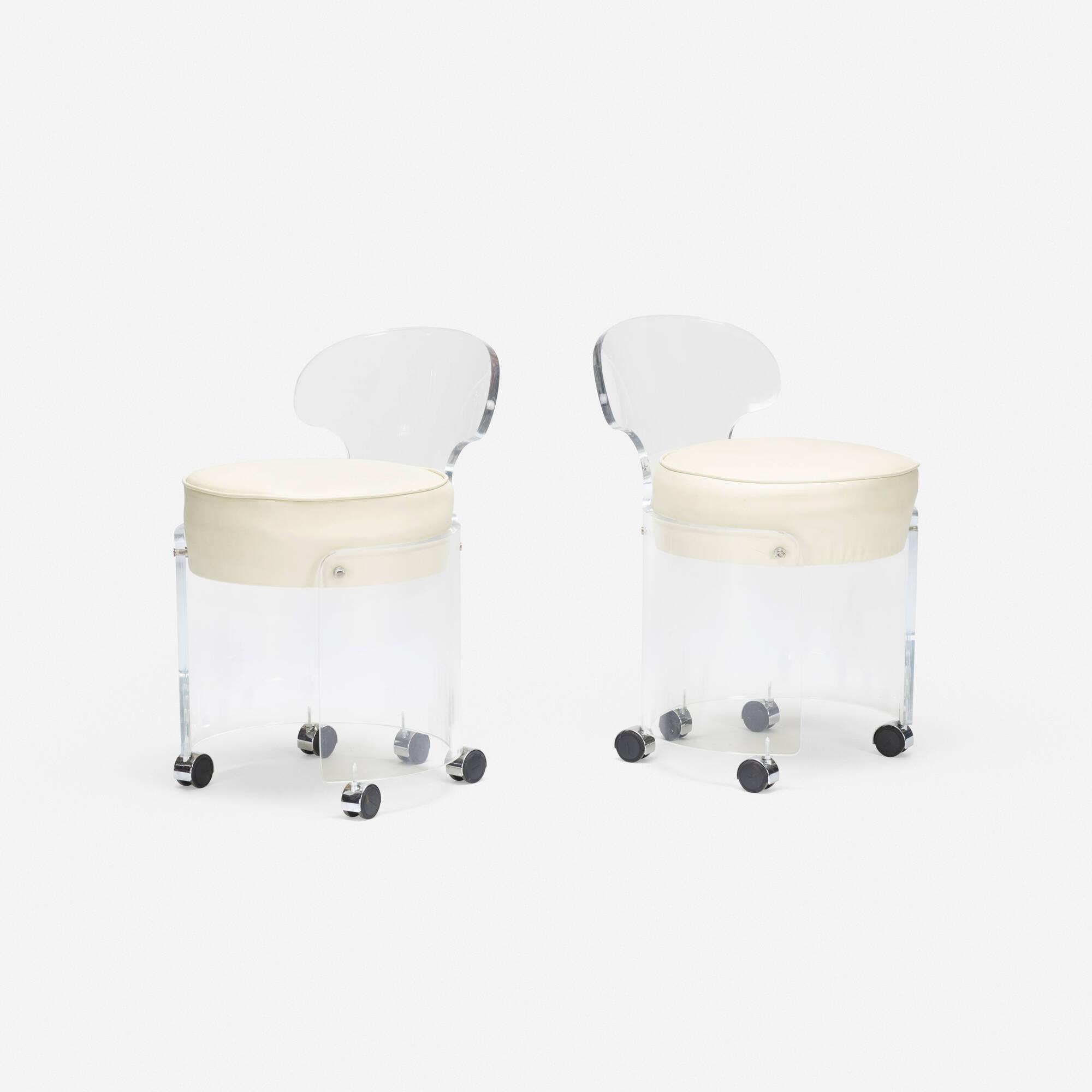 123: American / vanity chairs, pair (1 of 3)
