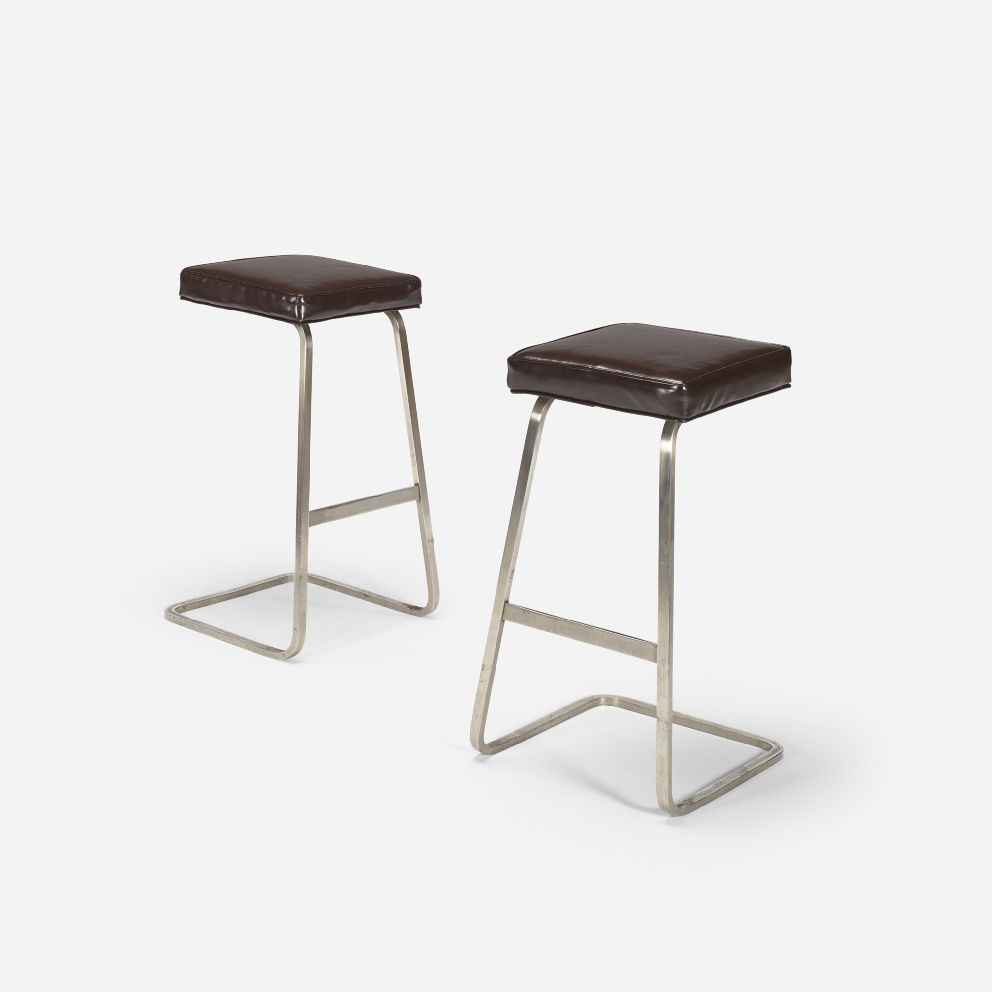 123: Ludwig Mies van der Rohe with Philip Johnson / Four Seasons bar stools from the Grill Room, pair (1 of 1)