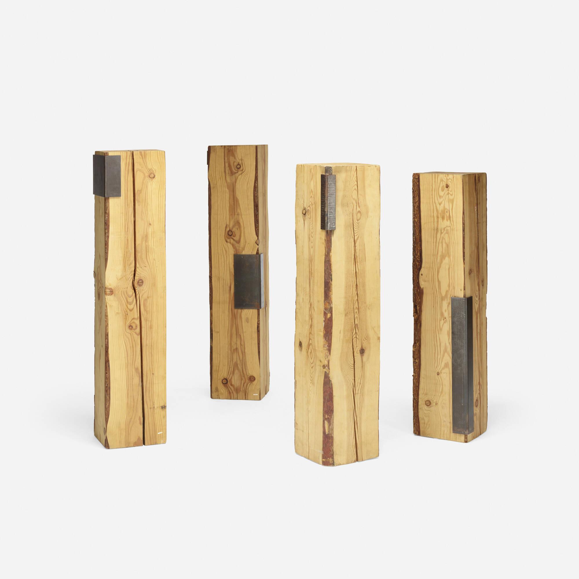 123: Elizabeth Garouste and Mattia Bonetti / pedestals, set of four (2 of 3)