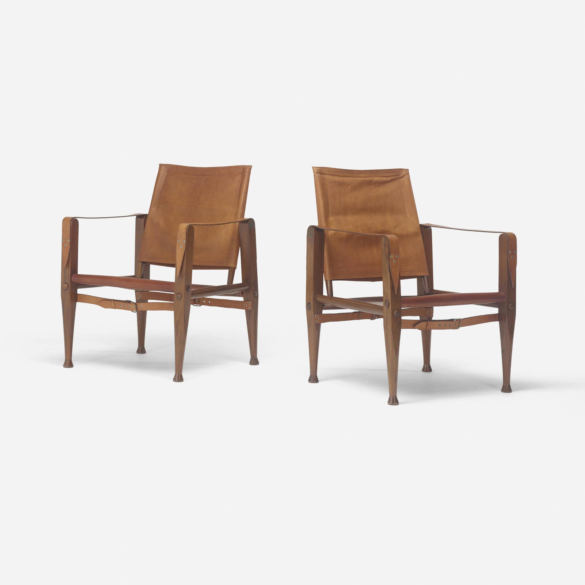 123: Kaare Klint / Safari chairs, pair (2 of 3)