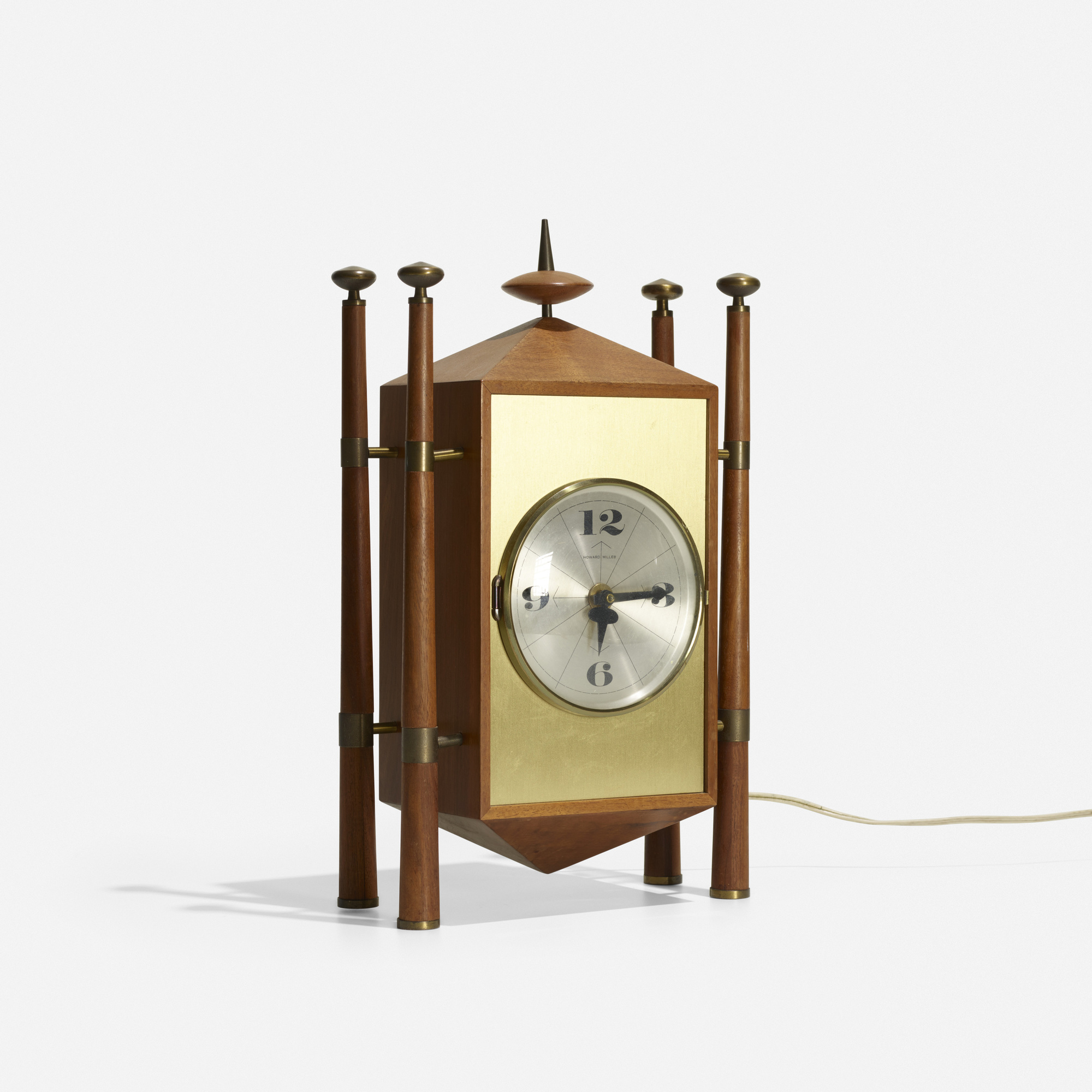 124: George Nelson & Associates / Baroque table clock, model 2255 (1 of 3)