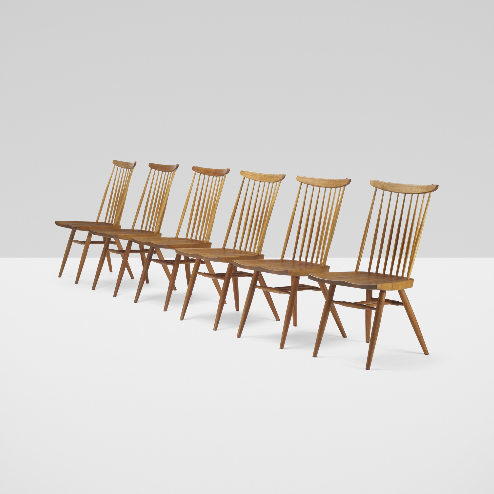 124: George Nakashima / New chairs, set of six (1 of 3)