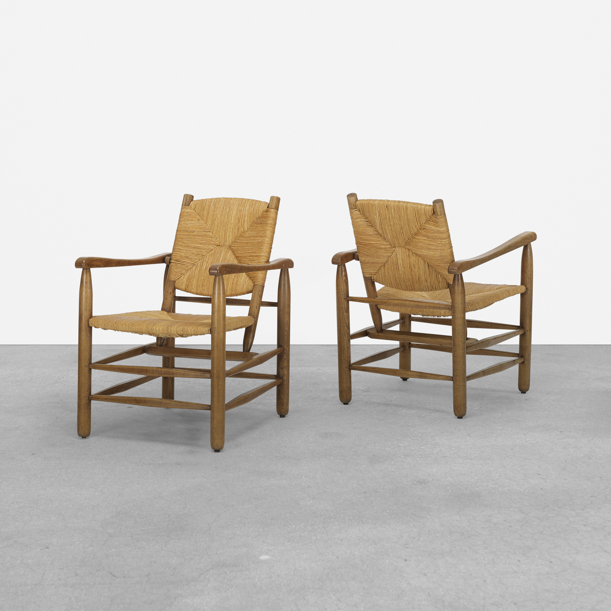 124: Charlotte Perriand / lounge chairs, pair (1 of 1)
