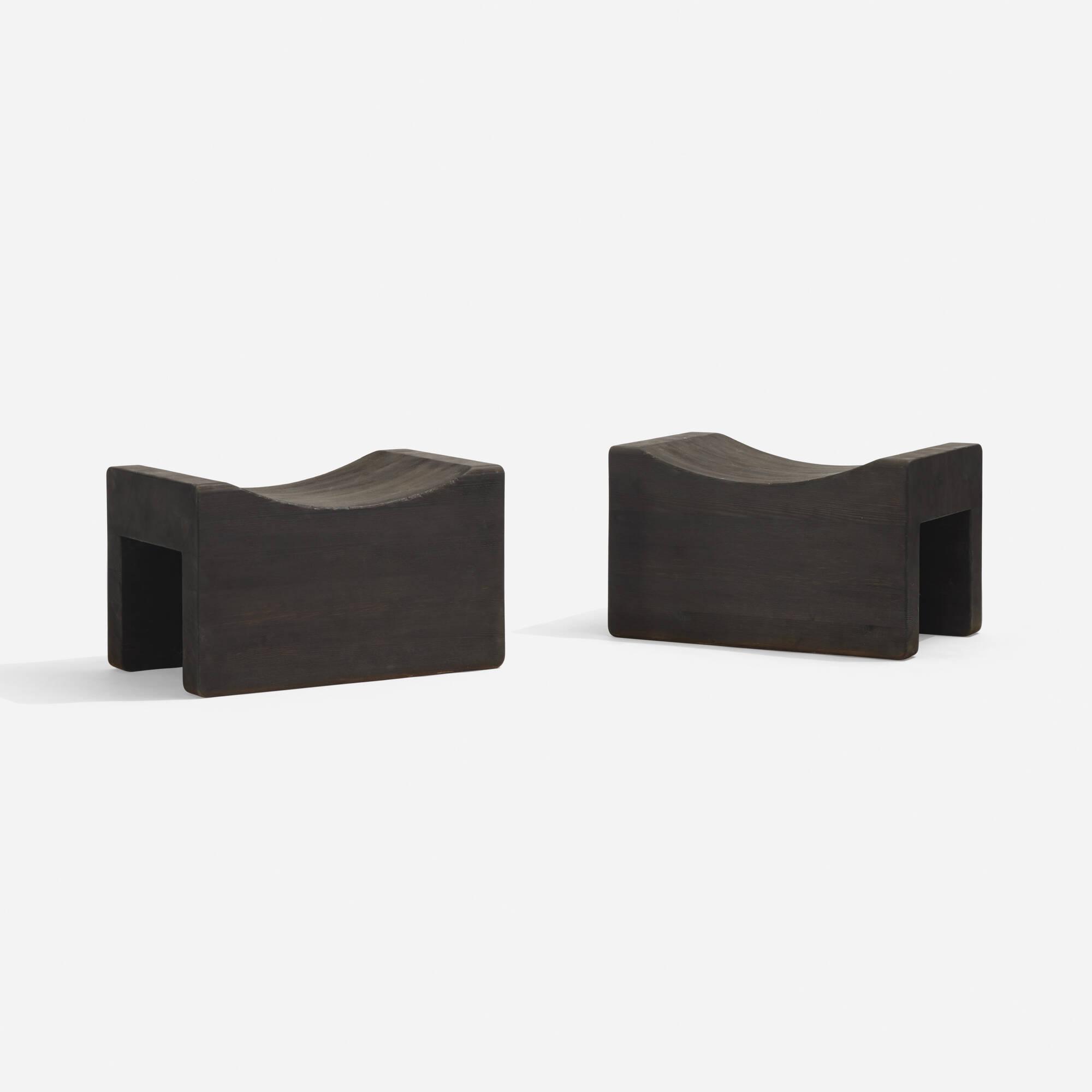 124: Axel Einar Hjorth / Utö stools, pair (1 of 3)
